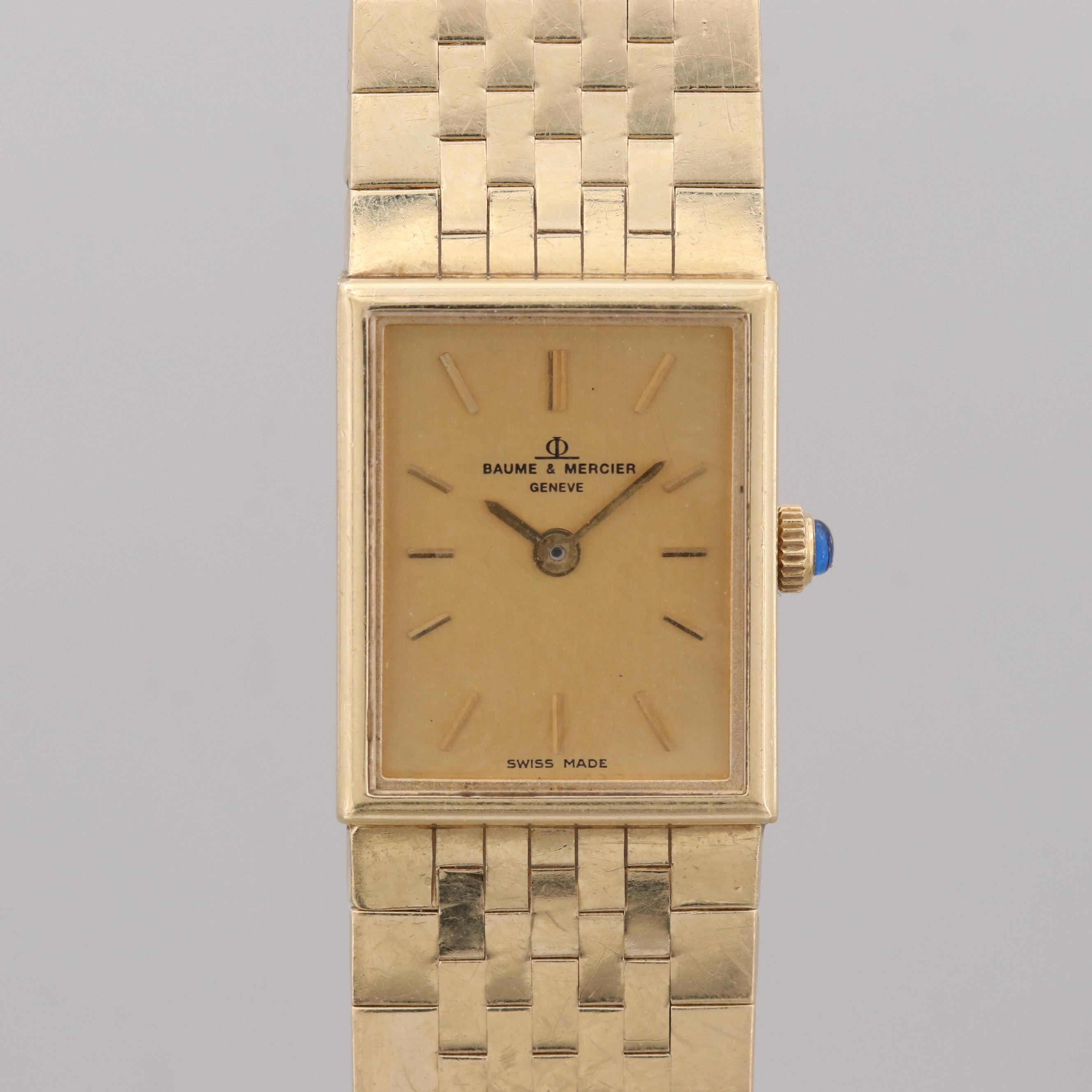 Vintage Baume & Mercier 14K Yellow Gold Quartz Wristwatch