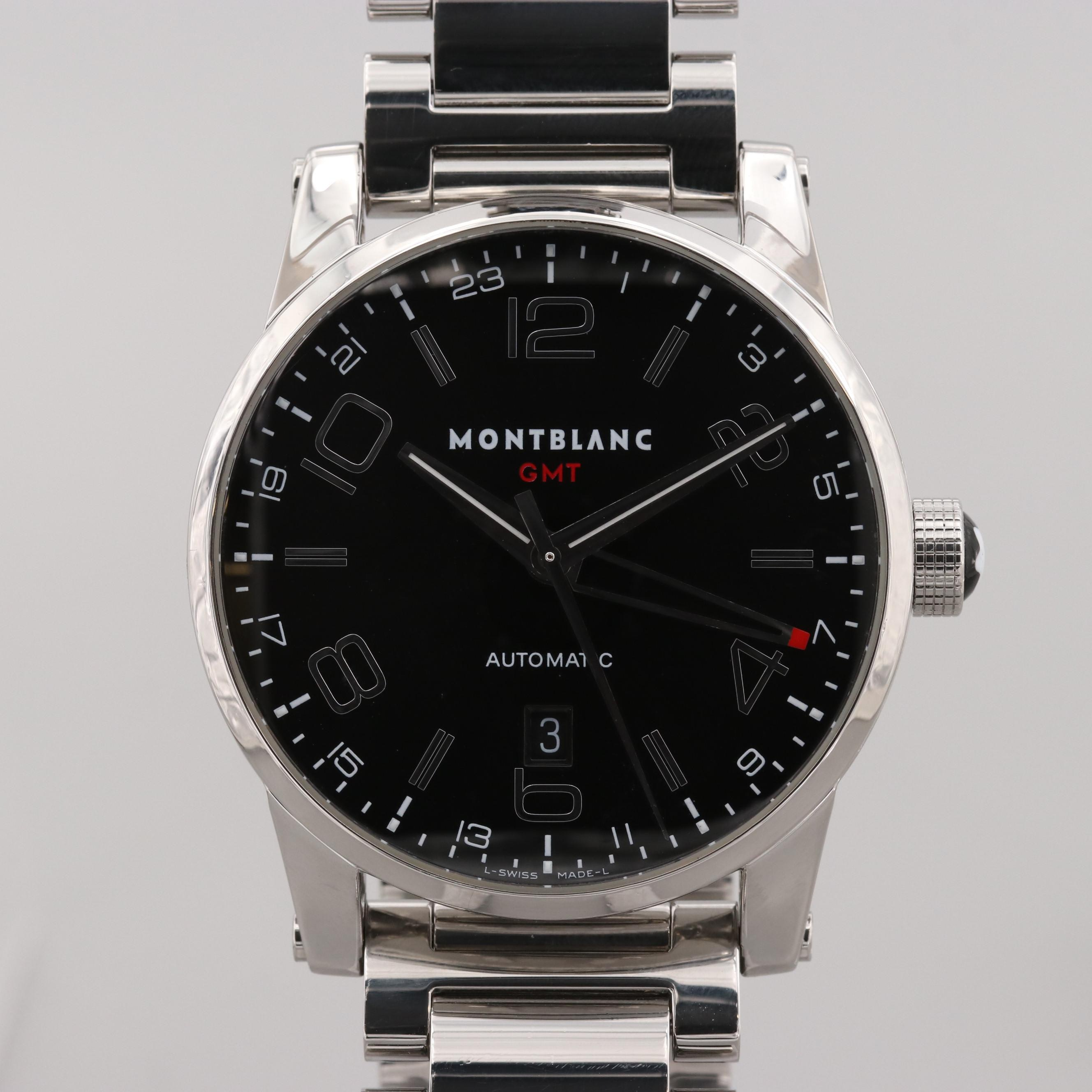 Montblanc TimeWalker GMT Stainless Steel Automatic Wristwatch