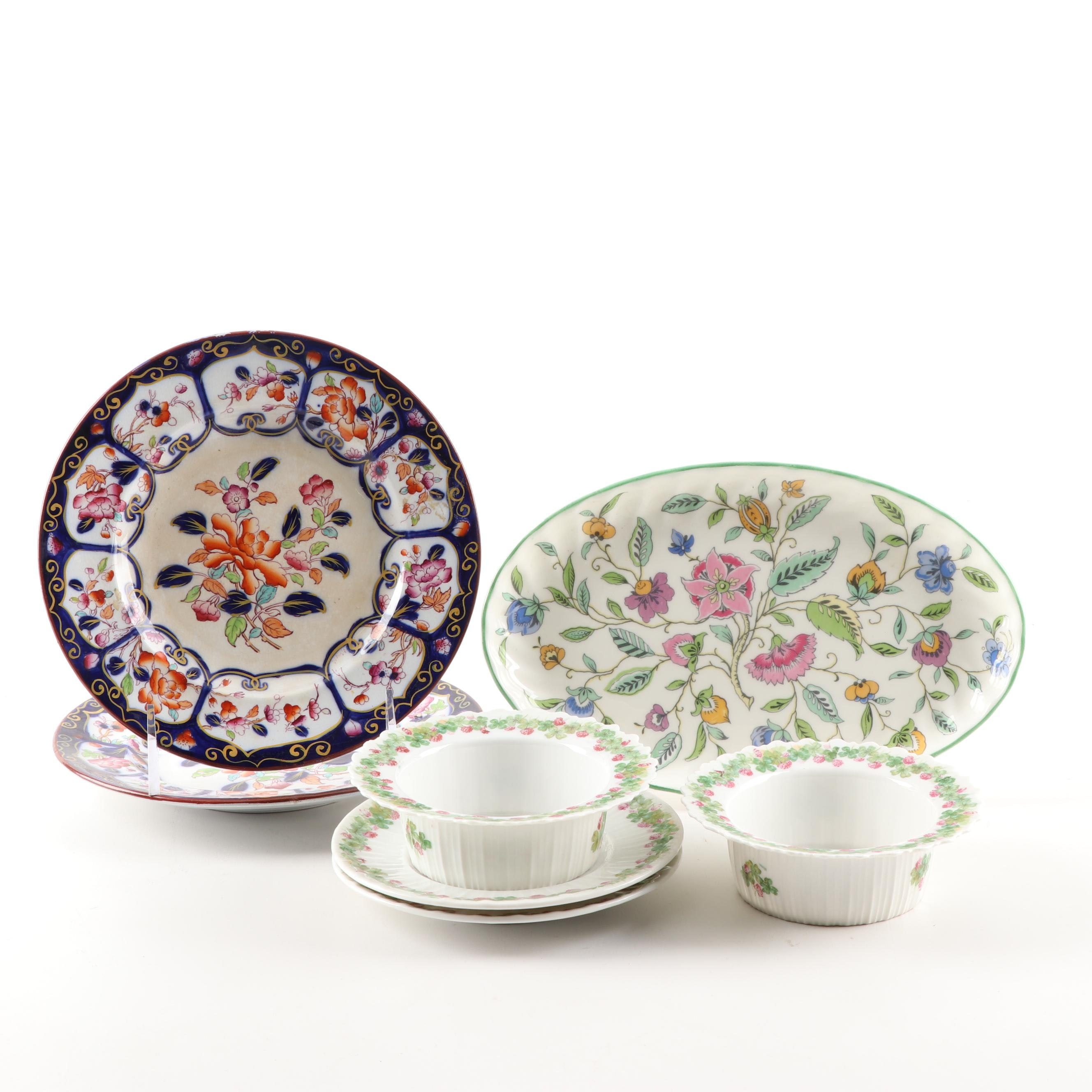 """Collection of Tableware Featuring Minton """"Haddon Hall"""" Platter"""