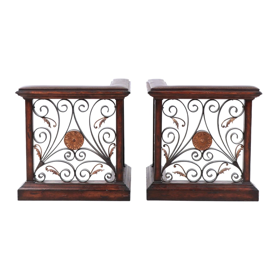 Strange Metal And Leather Fireplace Screen Vintage Beutiful Home Inspiration Ommitmahrainfo