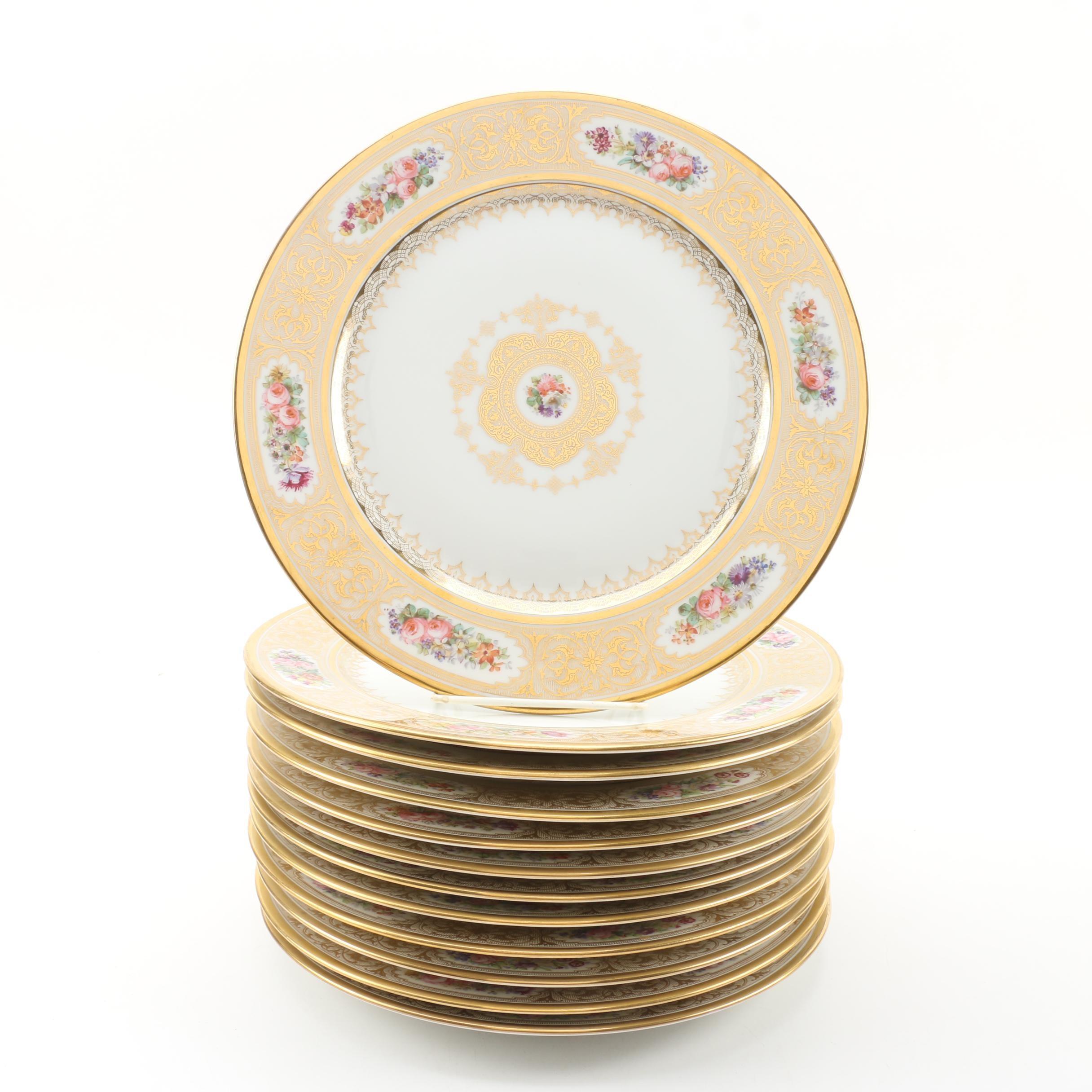 William Guérin & Co. of Limoges Porcelain Dinner Plates, 1900-1932