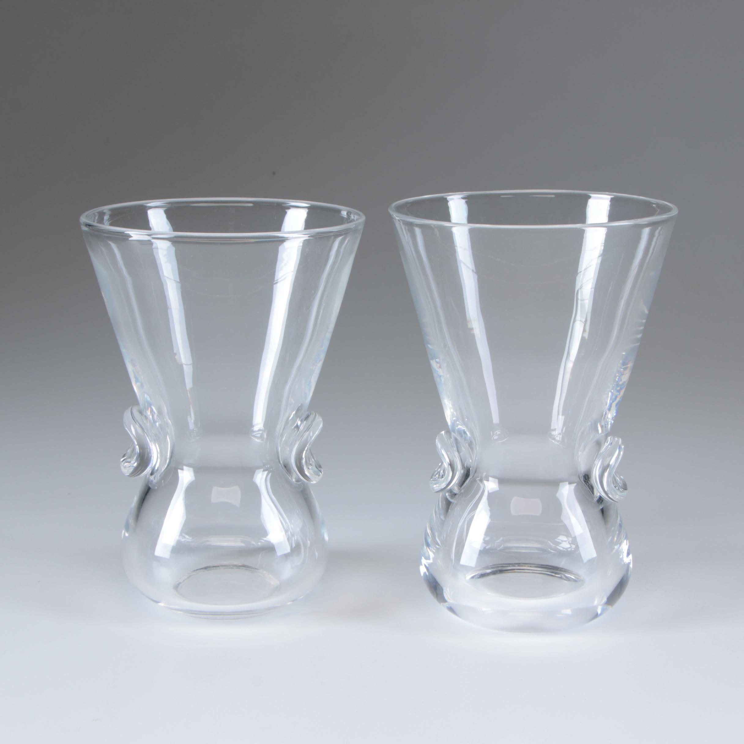"Steuben Art Glass ""Signet"" Vases Designed by David Hill, Circa 1950"