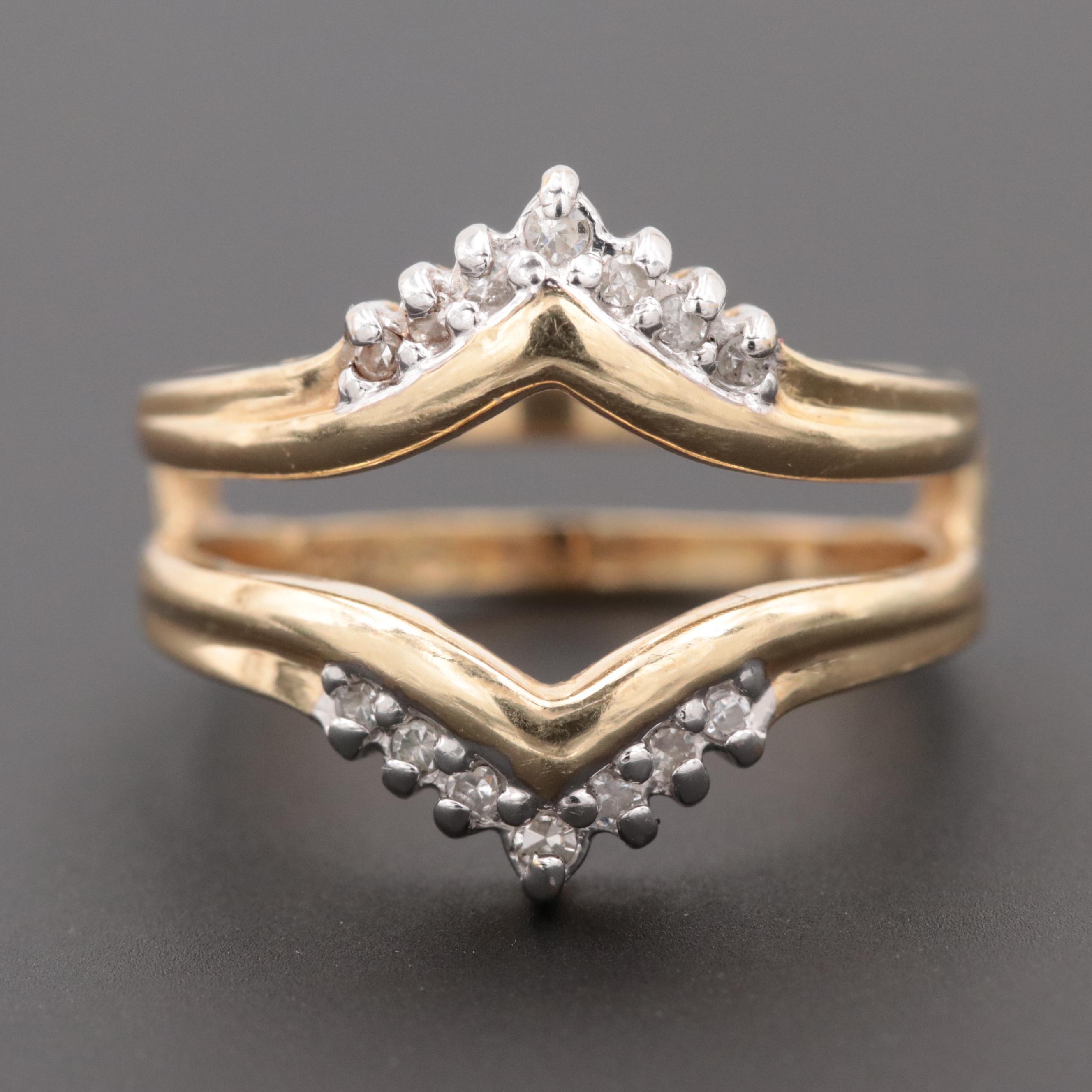 Alwand Vahan 14K Yellow Gold Diamond Ring Jacket