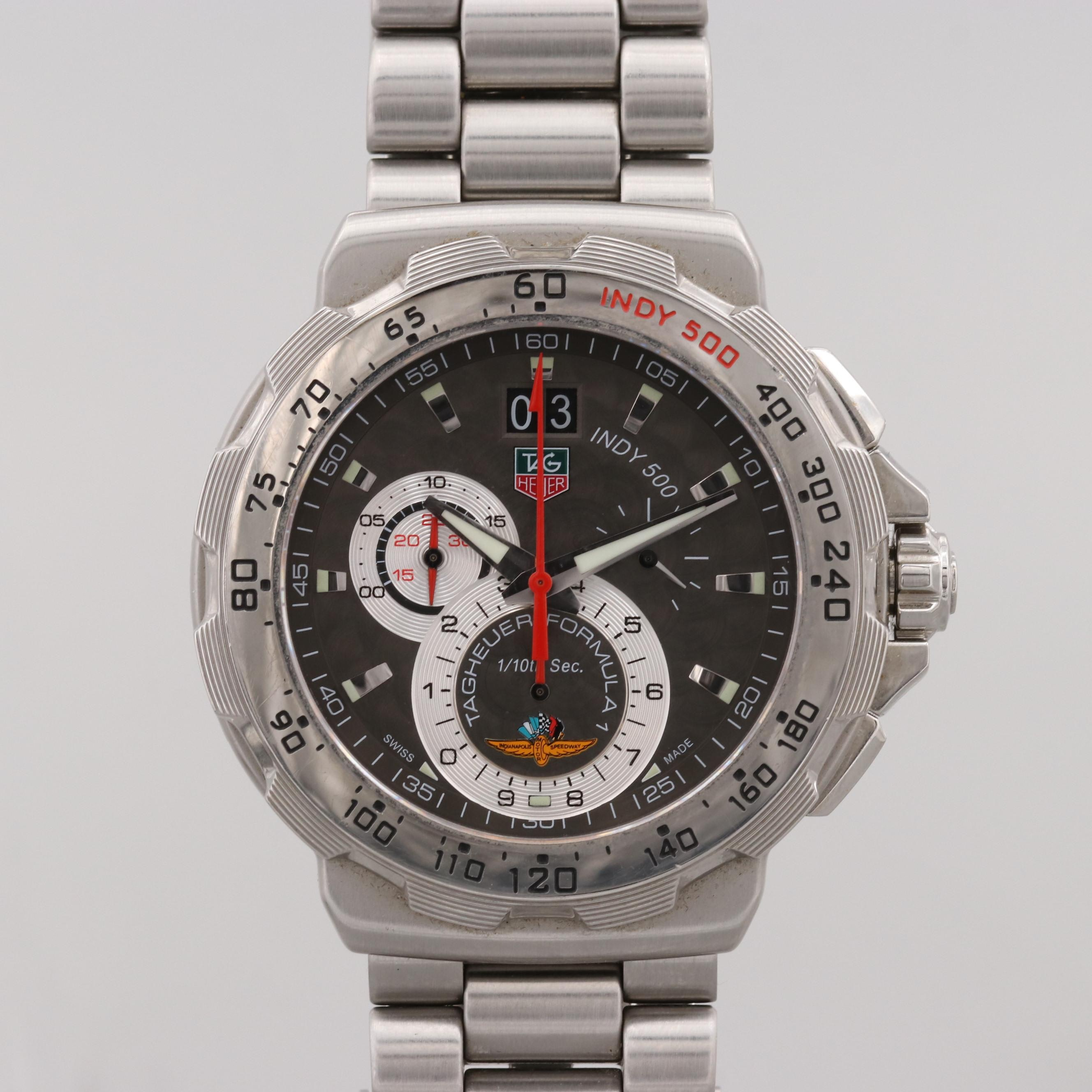 TAG Heuer Indy 500 Stainless Steel Grande Date Chronograph Wristwatch