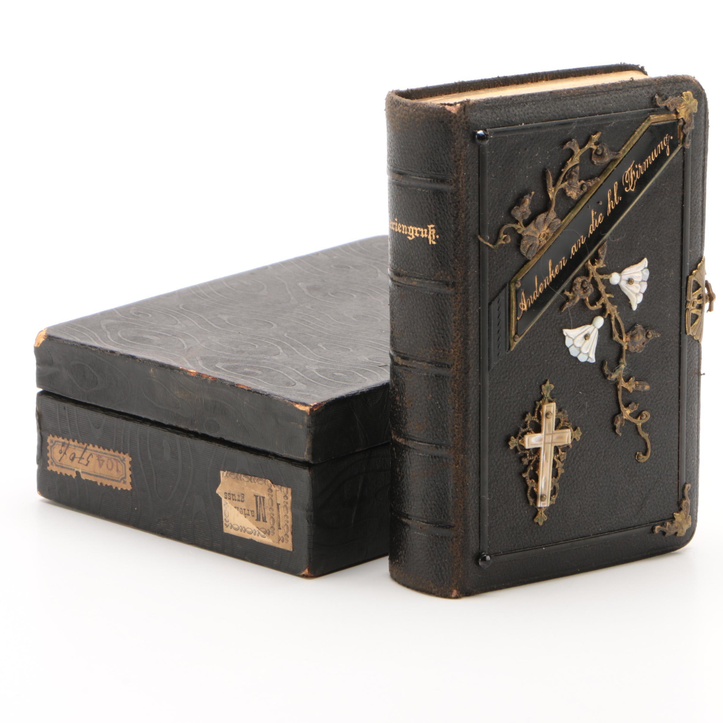 "German-Language ""Mariengruk"" Leather Bound Prayer Book, 1897"