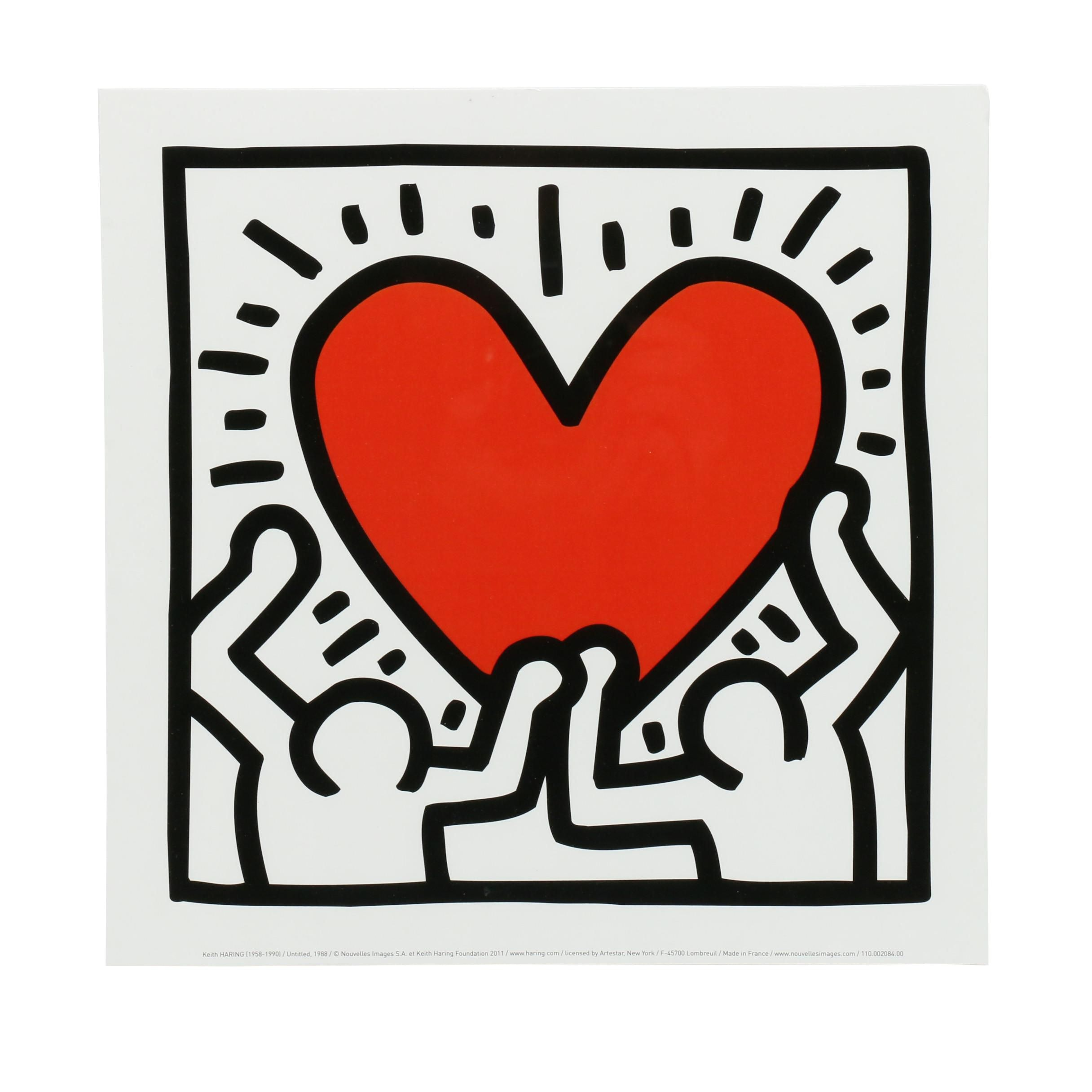Giclée After Keith Harting Figures with Heart