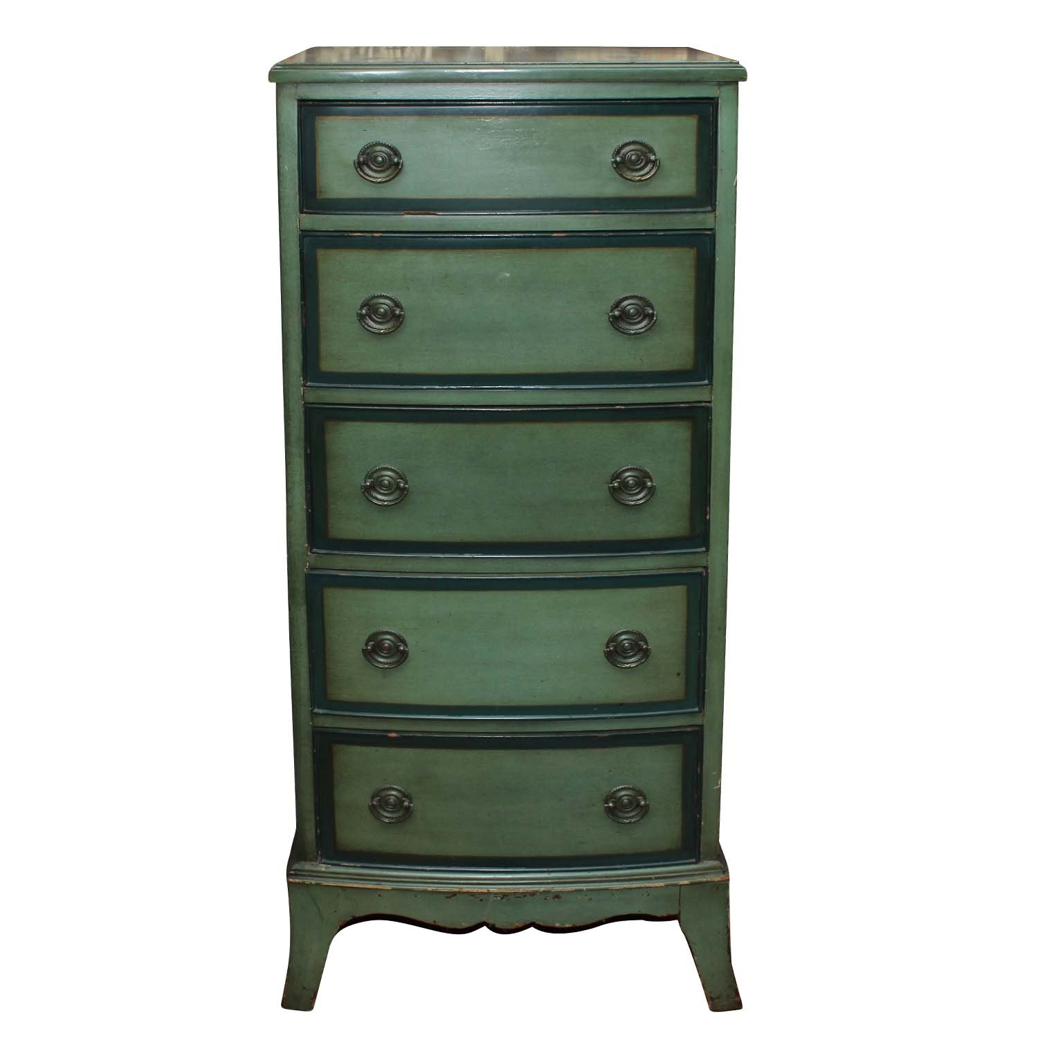 Paint Decorated Chest of Drawers, Mid 20th Century