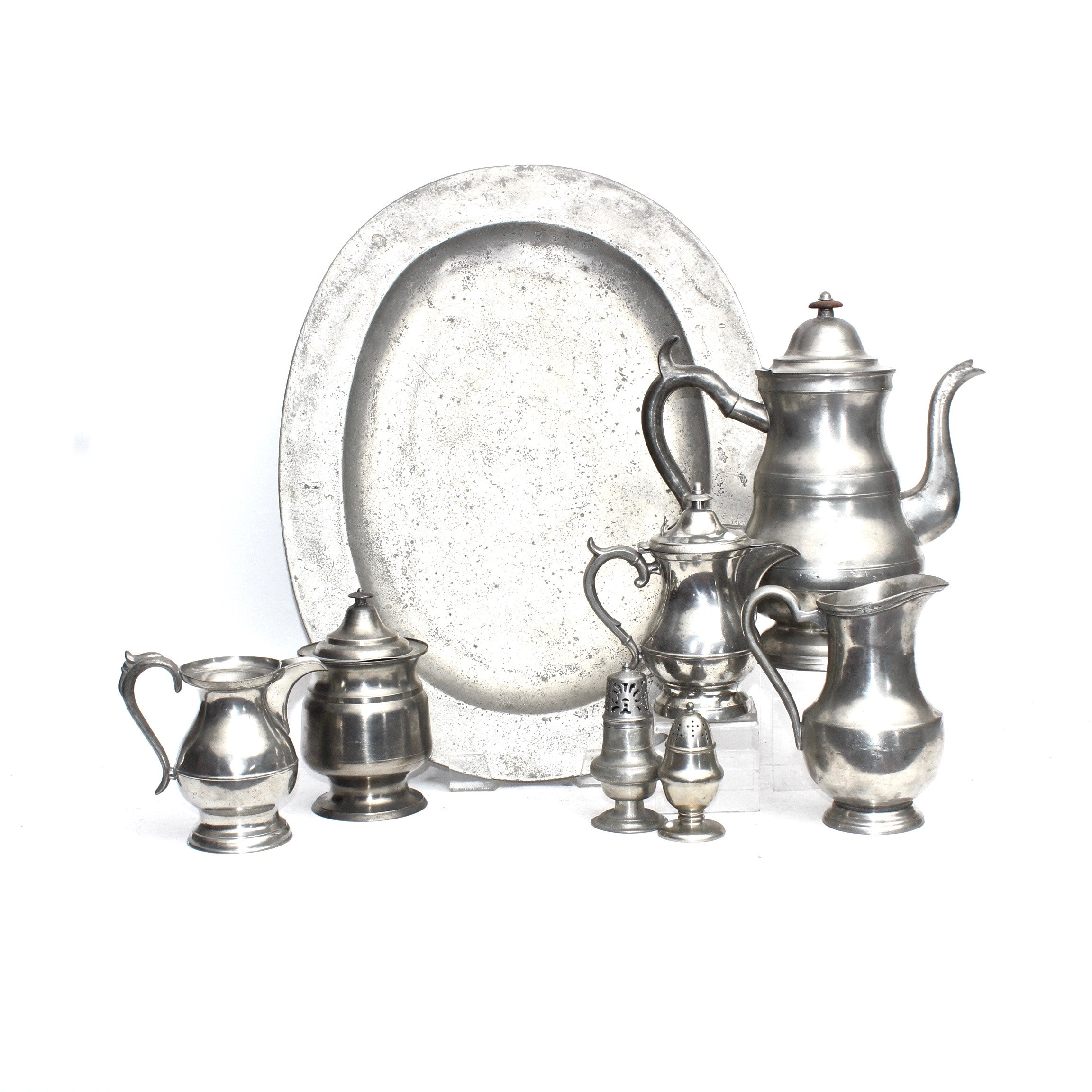 Vintage Pewter Tea and Coffee Tableware