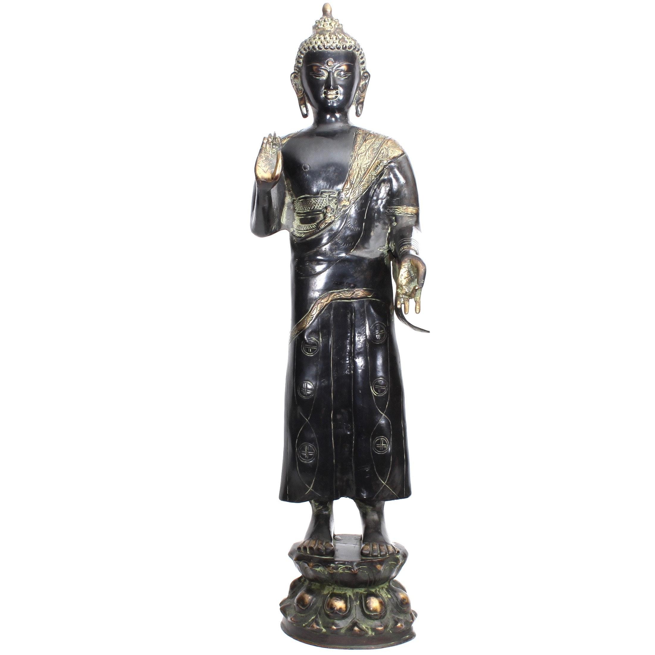 Bronze Buddha Sculpture, Vintage