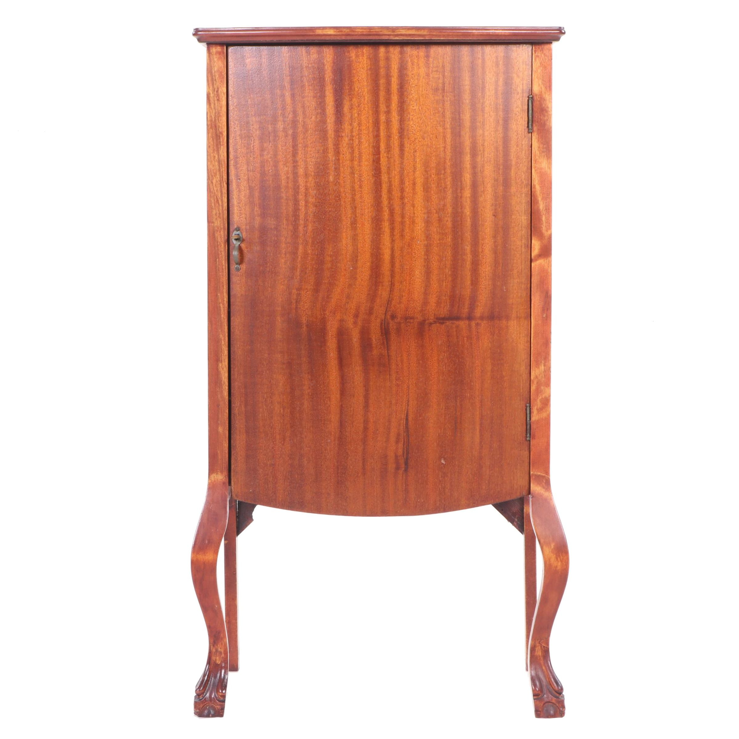 Colonial Revival Mahogany Sheet Music Cabinet, Early to Mid 20th Century