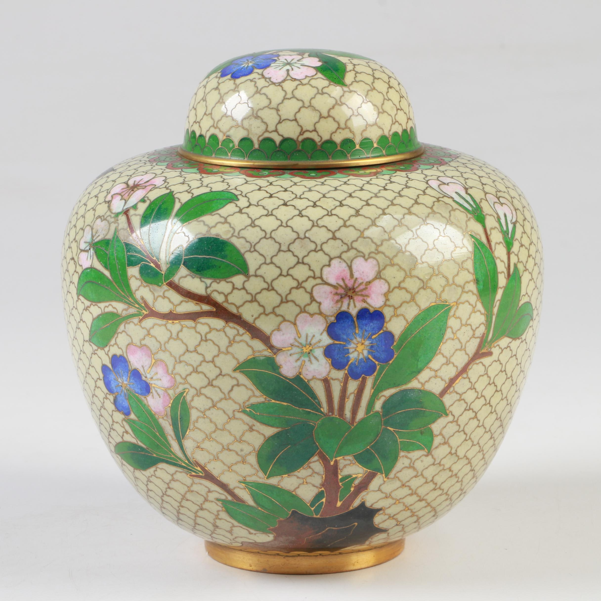 Chinese Cloissoné Ginger Jar, Late 20th Century