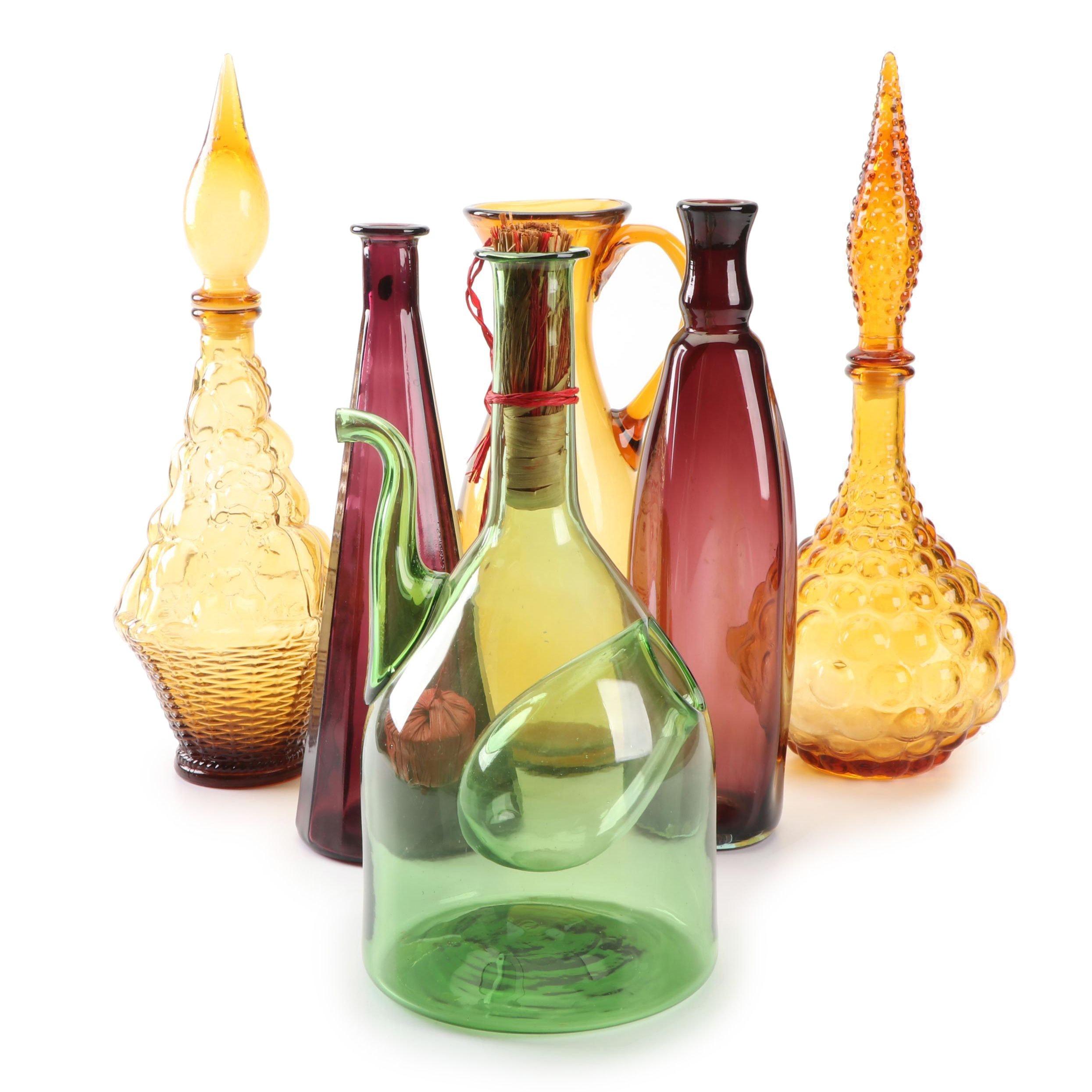 Vintage Italian Decanters and Including Sangria Server