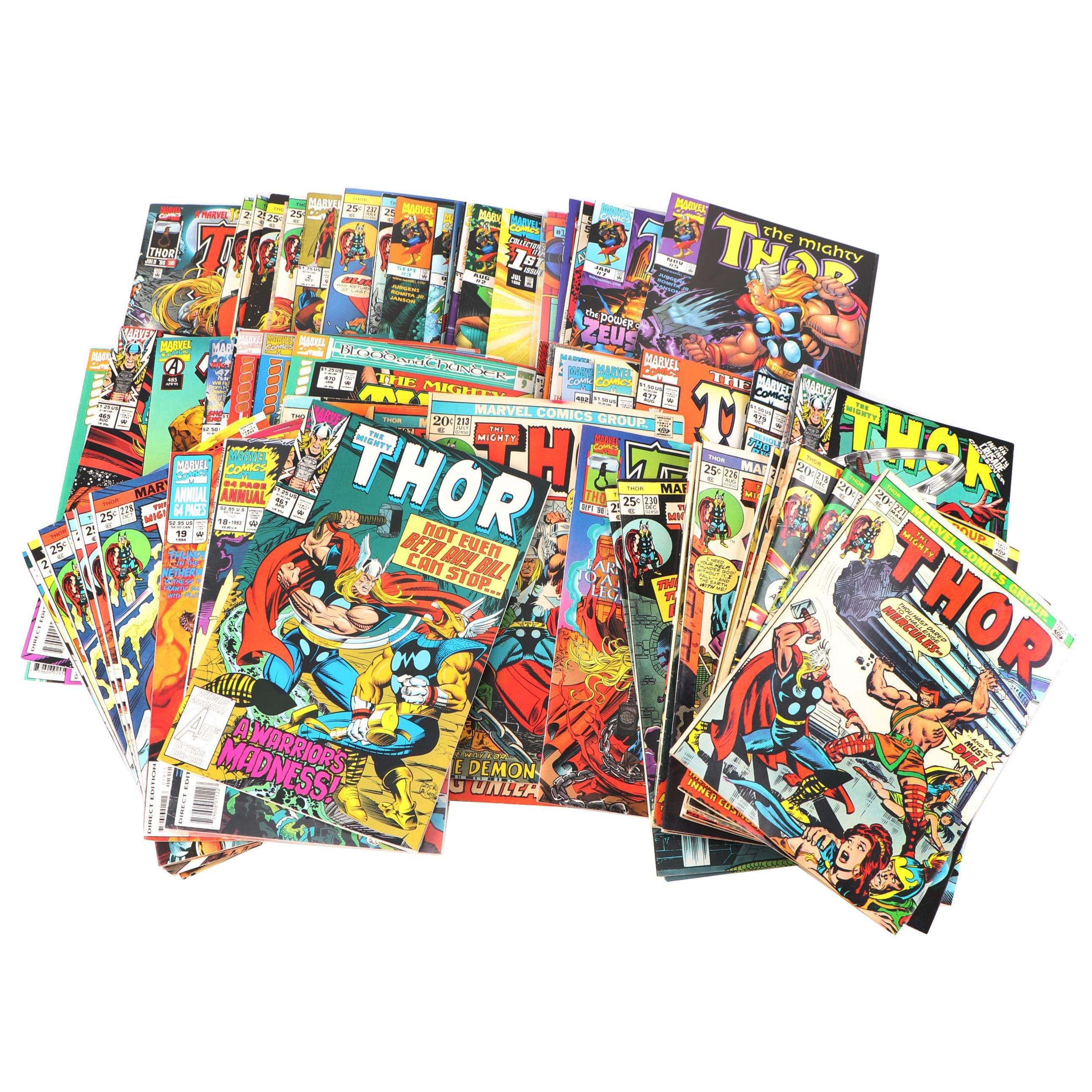 "Silver, Bronze & Modern Age ""Thor"" Comic Books"