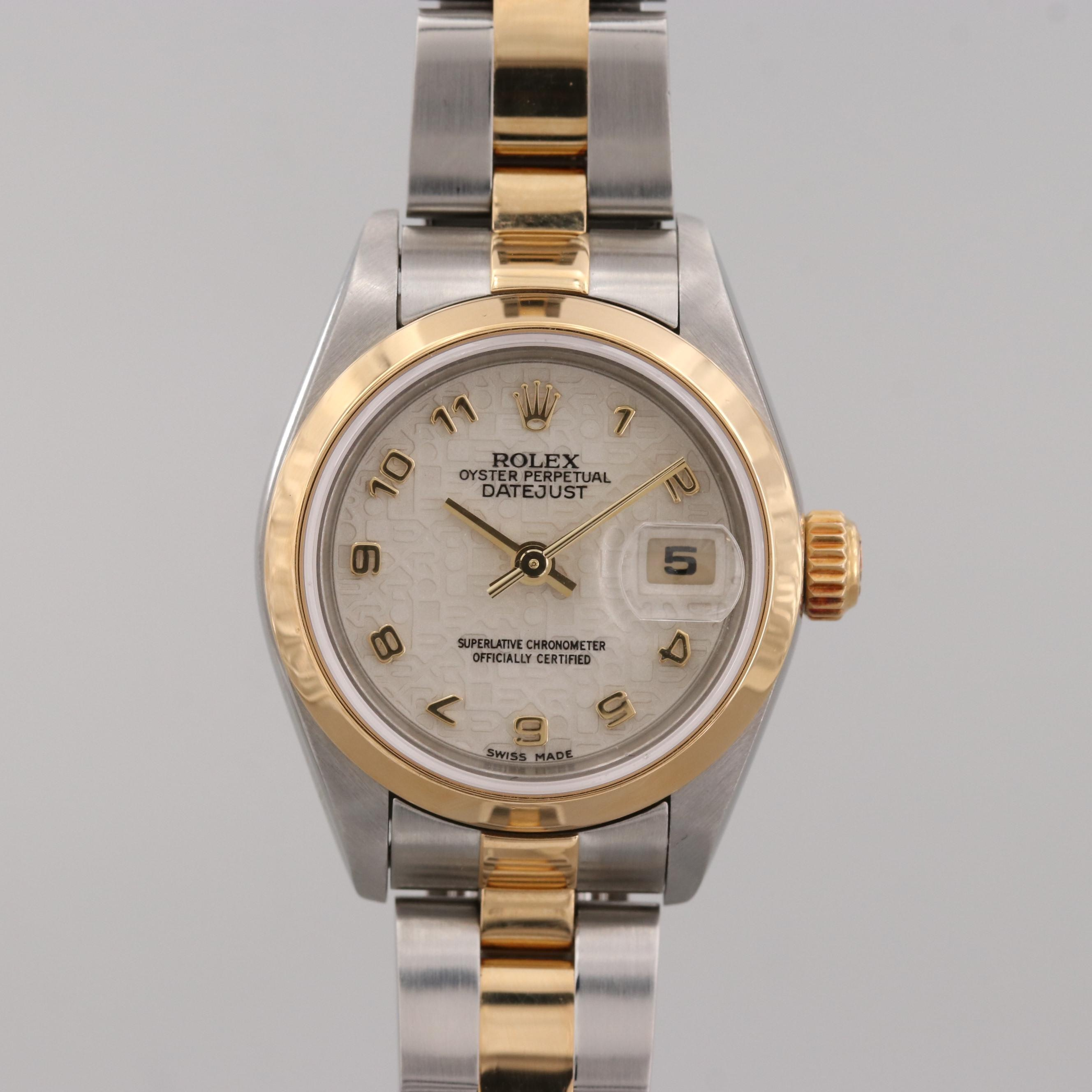 Rolex Datejust Stainless Steel and 18K Yellow Gold Automatic Wristwatch, 2002