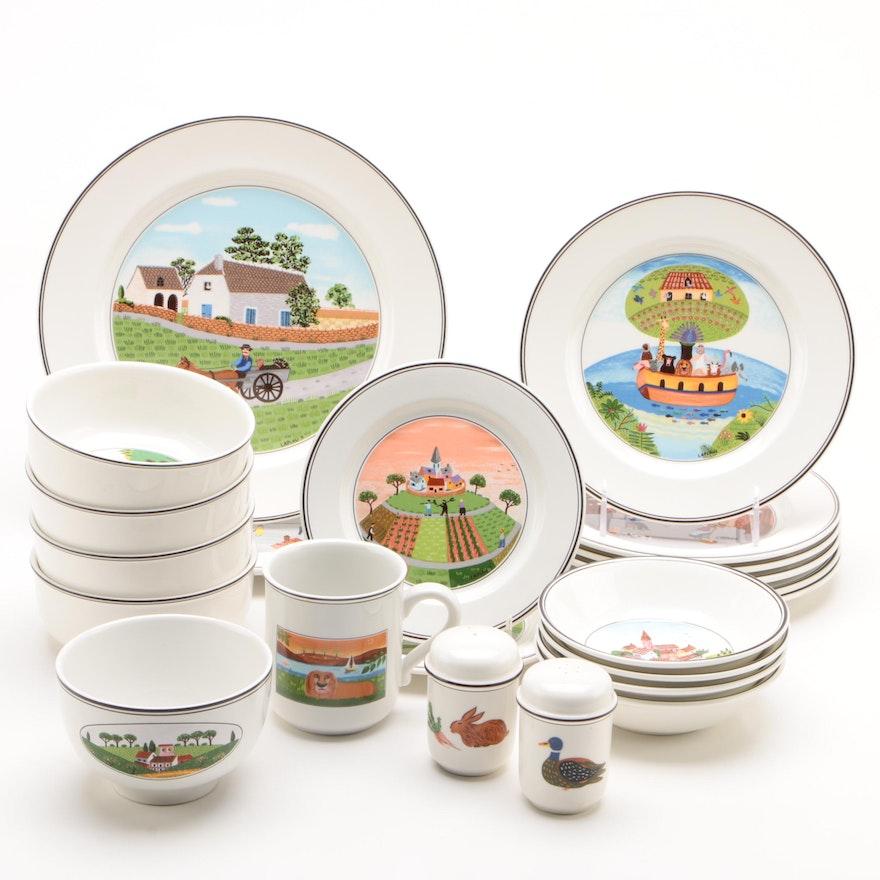 "Villeroy & Boch ""Design Naïf"" Porcelain Tableware, Late 20th Century"