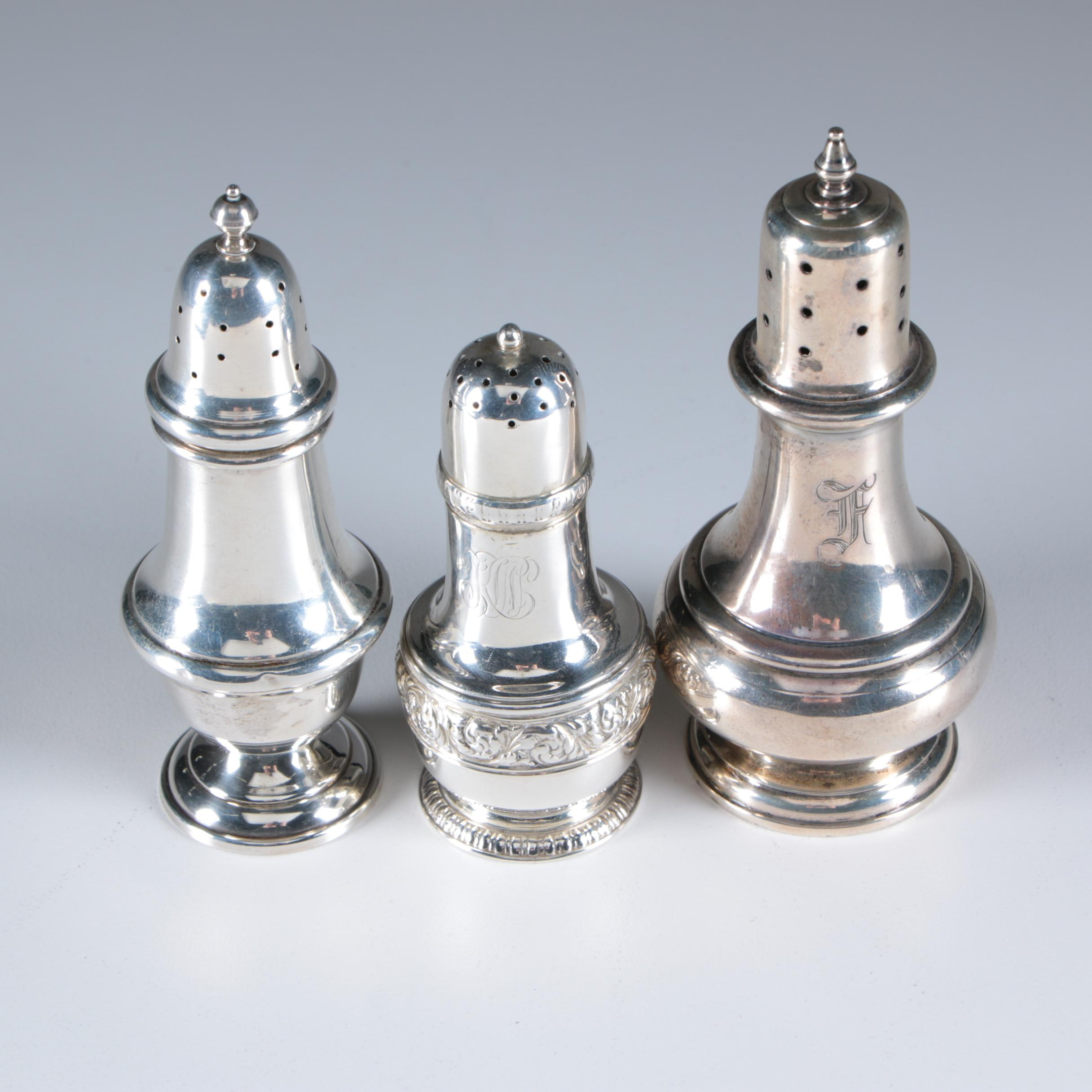 Sterling Silver Shakers featuring Tiffany & Co. and Gorham, Early/Mid 20th C.