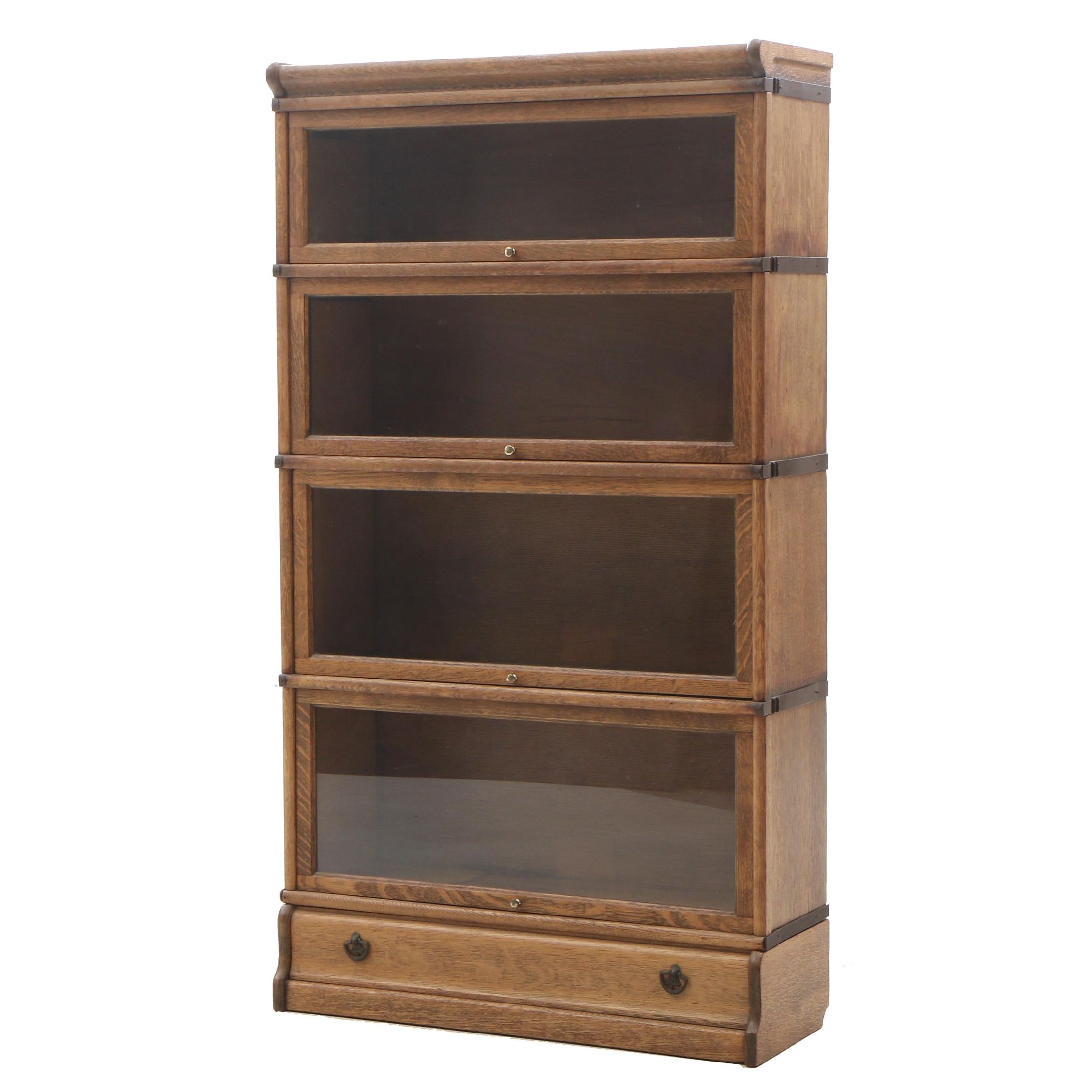 Quarter Sawn oak Barrister Bookcase, Early 20th Century