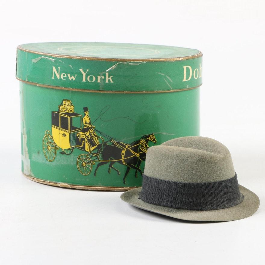 5af985266550c Miniature Dobbs Fifth Avenue Hats Salesman Sample Fedora and Hatbox   EBTH