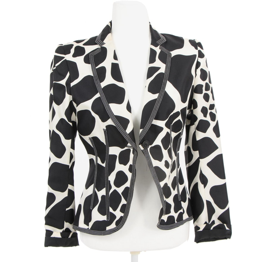 8b757d18 Women's Zara Woman Animal Print Silk Jacket : EBTH