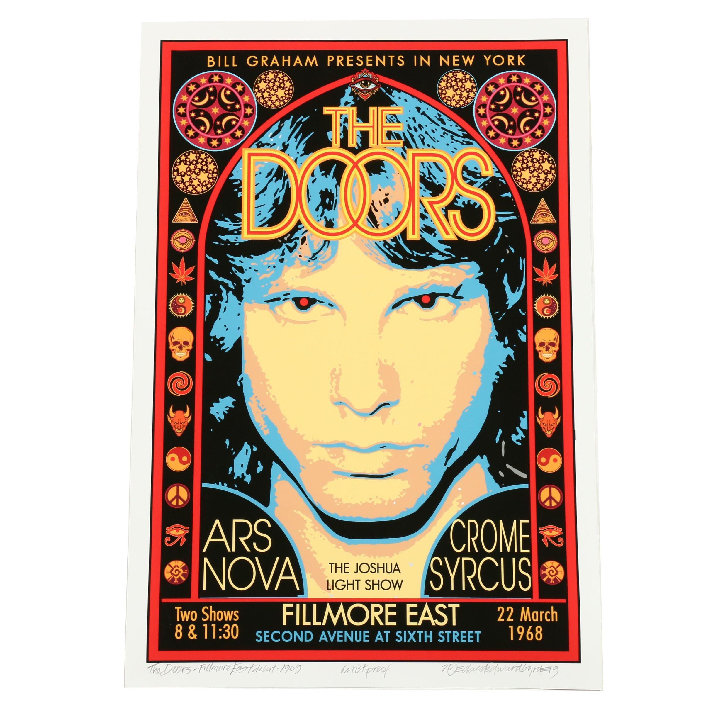"David Edward Byrd 1969 Giclée ""The Doors Filmore East Debut"""