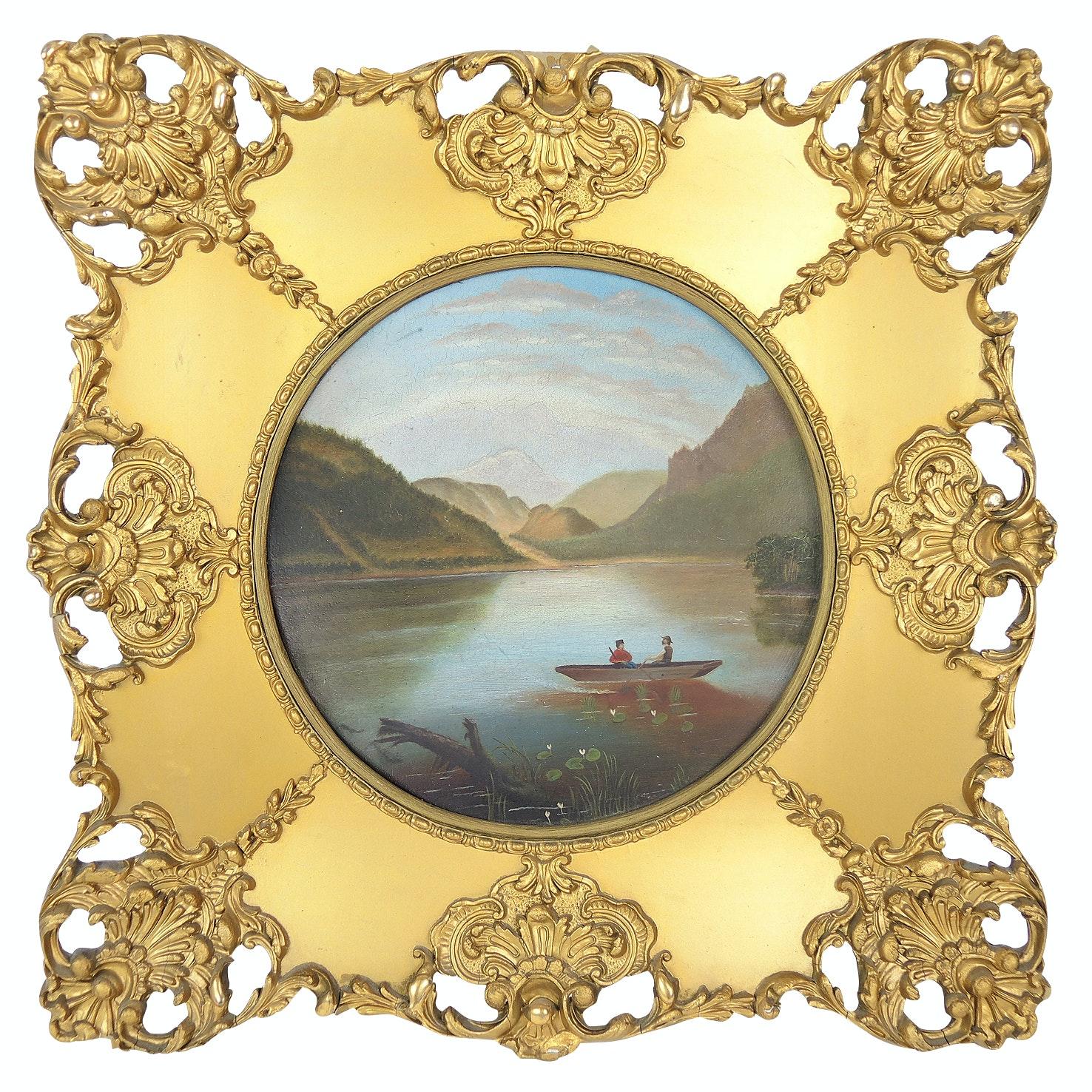 Joseph Horne Decorative Paper-Mache Wall Plate