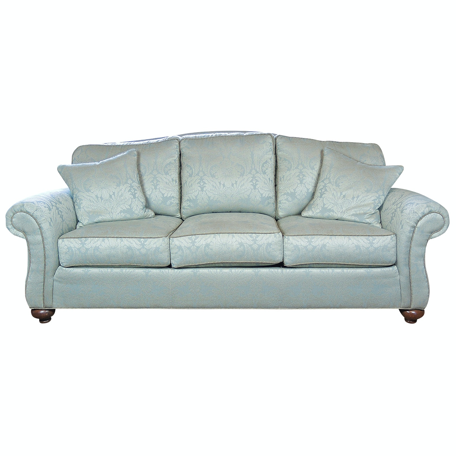 "Ethan Allen ""Whitney"" Damask Sofa, Contemporary"