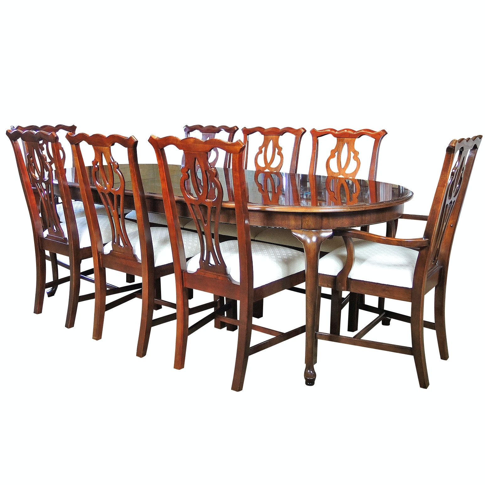 Thomasville Oval Dining Table and Chairs Set