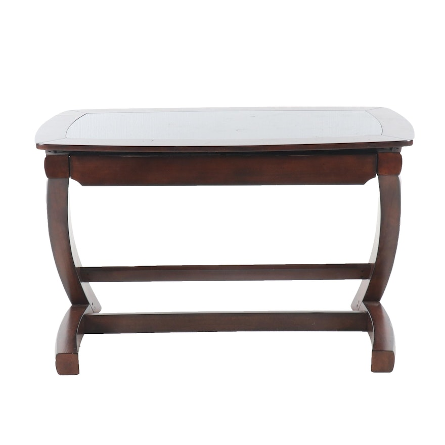 Mahogany Finish Writing Desk By Whalen Furniture 21st Century