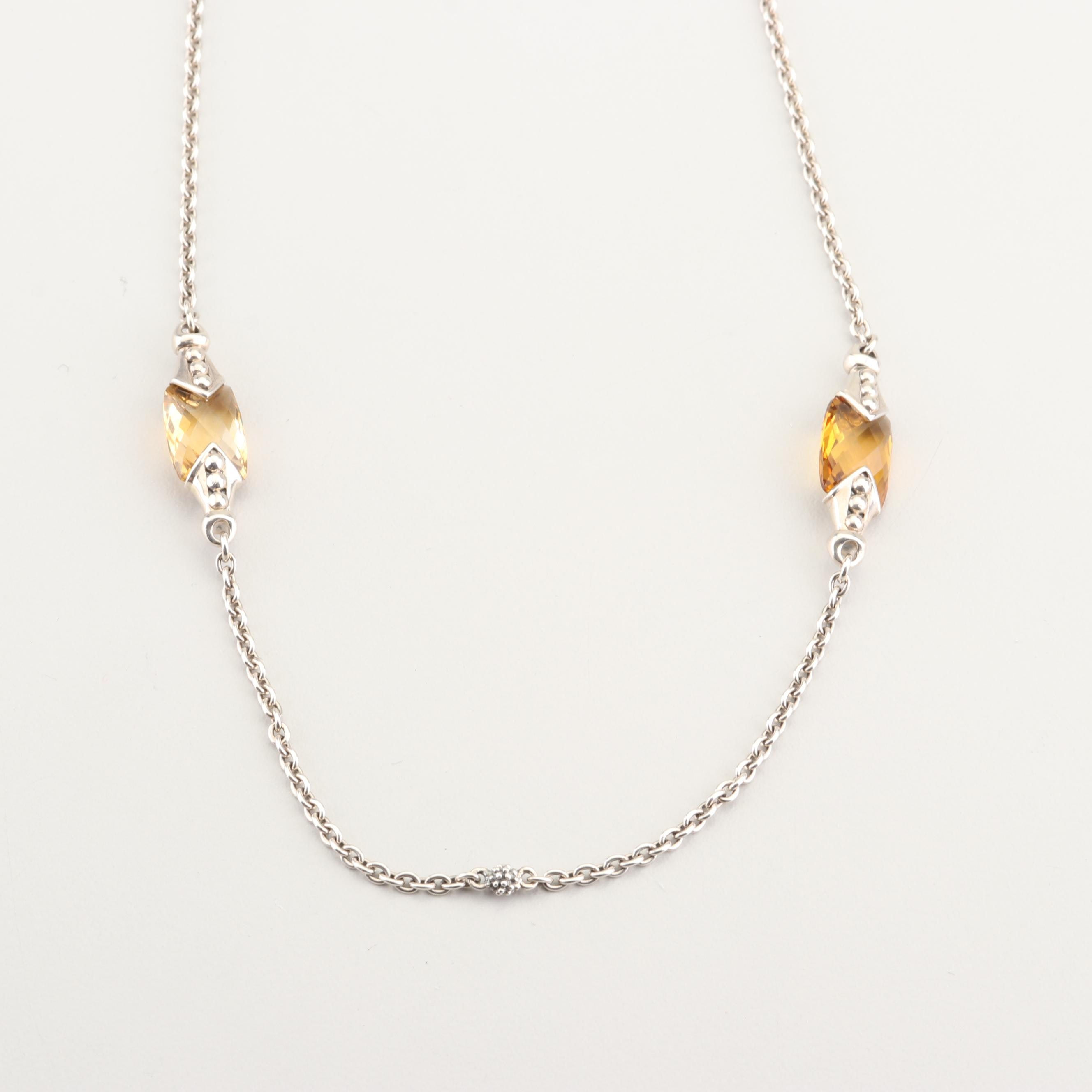 Lagos Sterling Silver and Topaz Necklace
