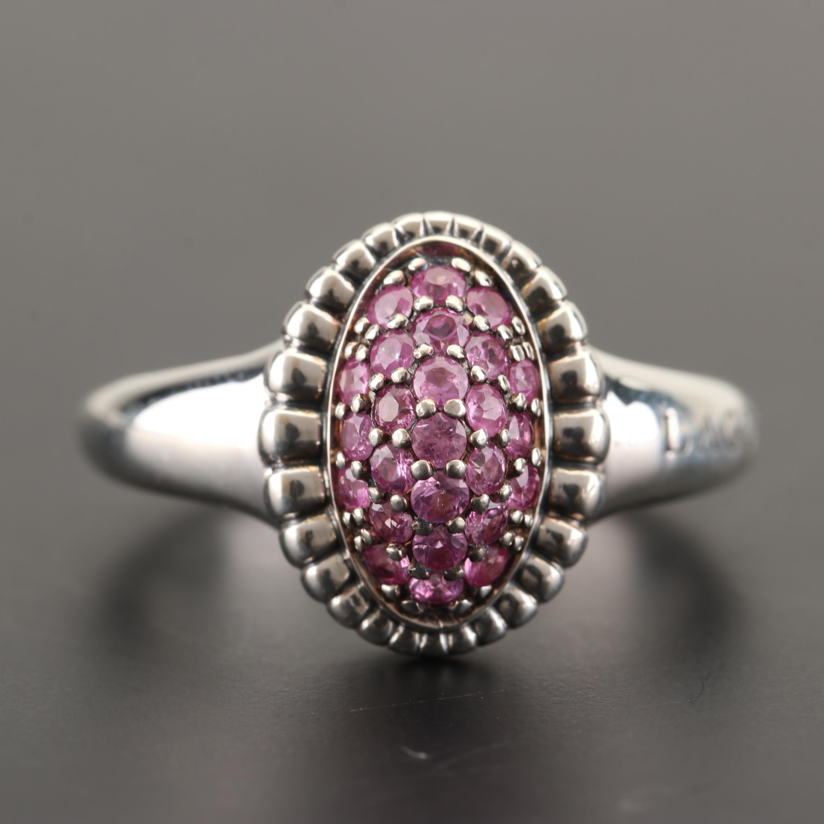 Lagos Sterling Silver Ruby Ring