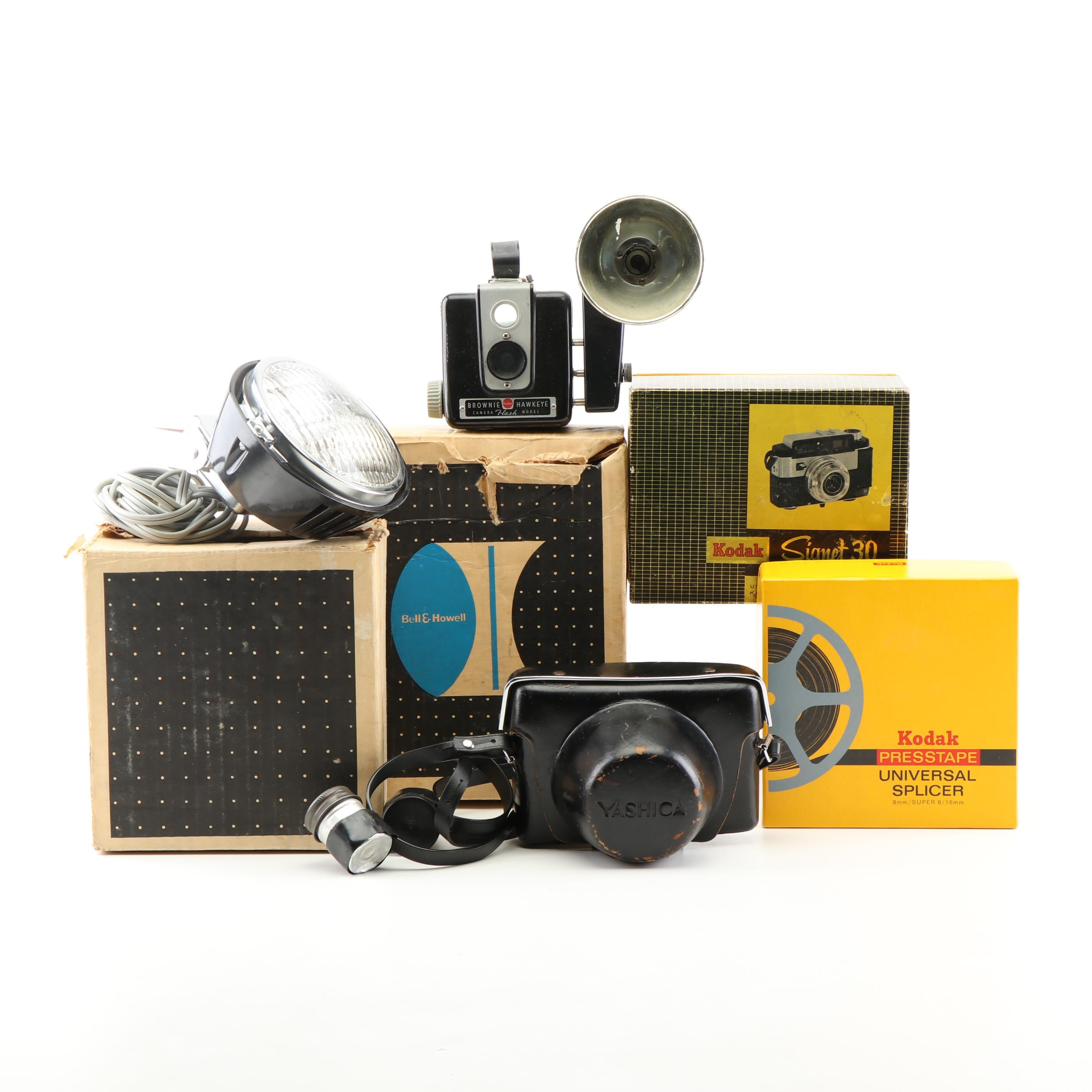 Still Cameras, Movie Camera and Accessories, Mid - 20th Century