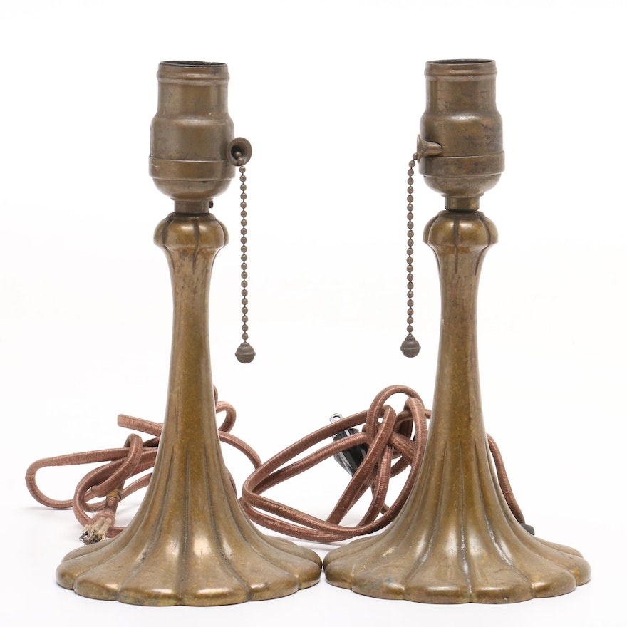 Cast Metal Art Nouveau Boudoir  Lamps, Early 20th century