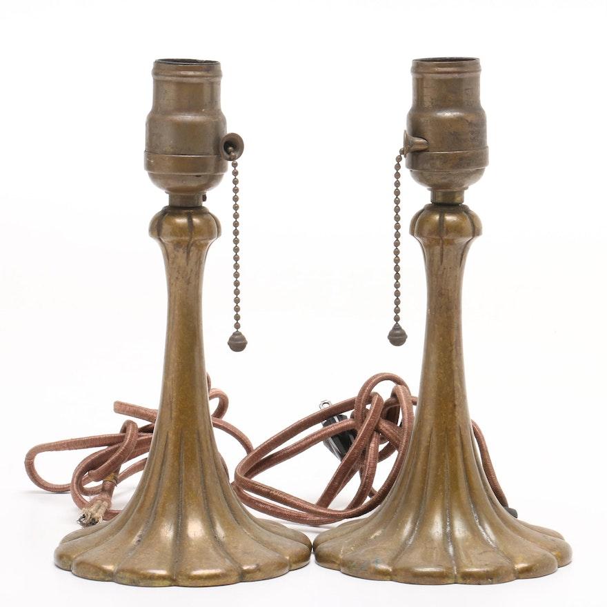 Cast Metal Art Nouveau Boudoir  Lamps, Early 20th century
