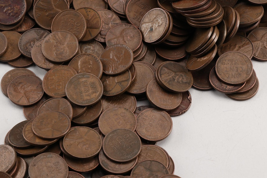 Group Of Approximately 1500 Lincoln Wheat Cents