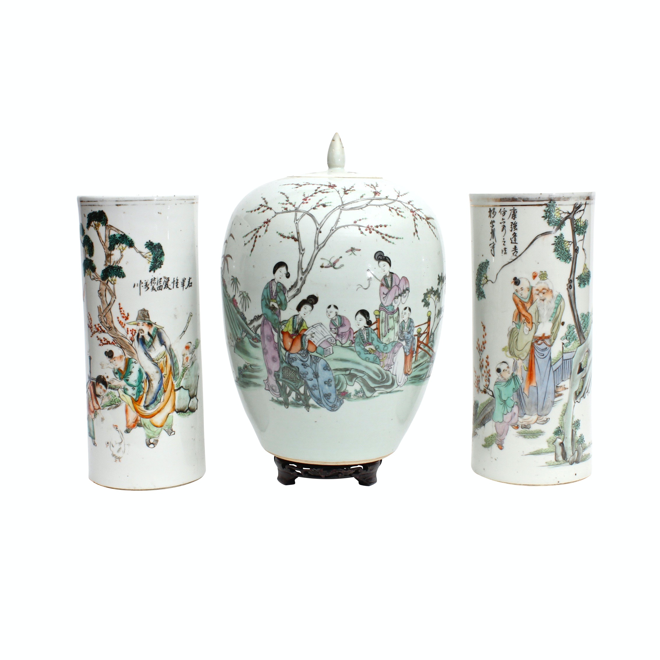 Chinese Porcelain Vases and Urn, Republic Period