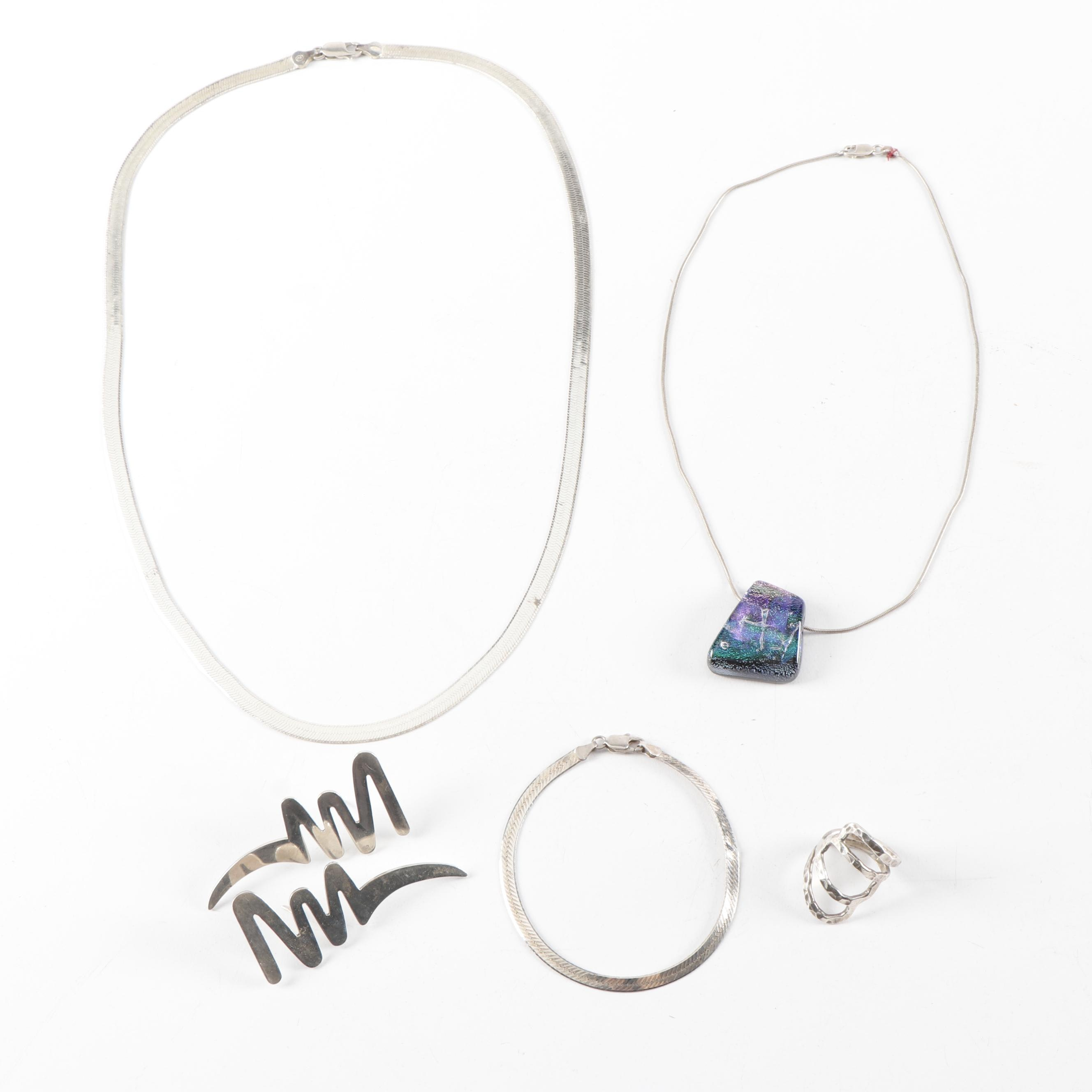 Collection of Italian and Mexican Sterling Silver Jewelry