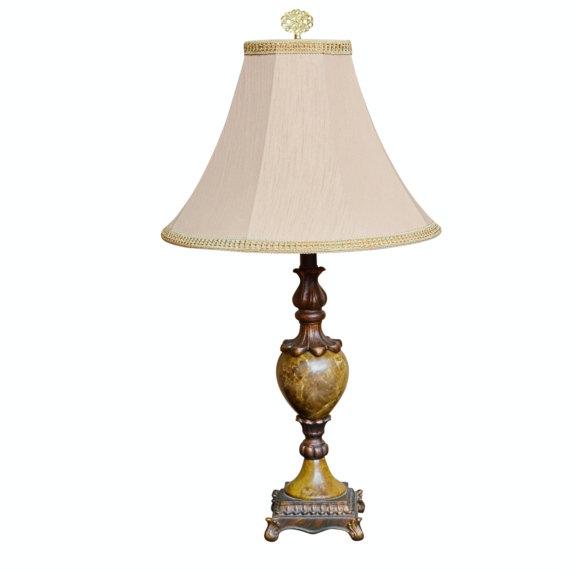 Traditional Table Lamp with Urn Marble Base