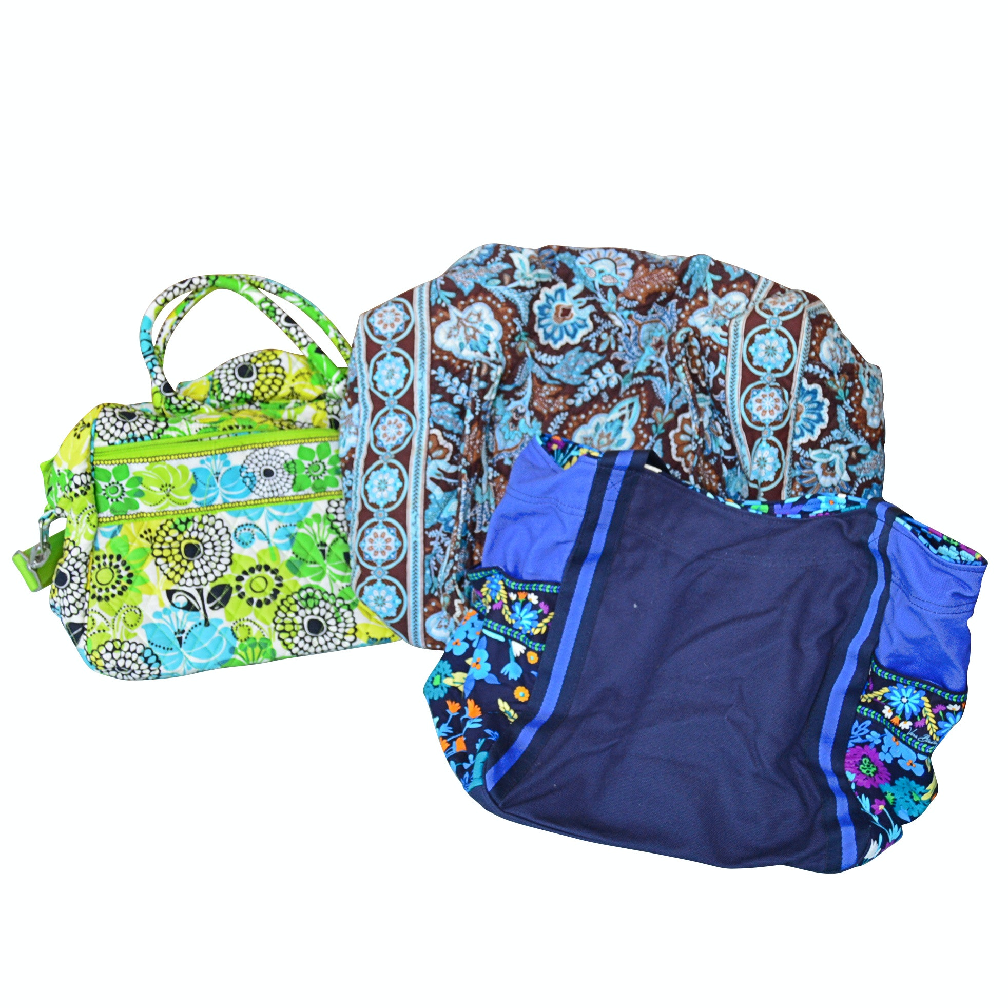 Vera Bradley Cotton Floral Totes and Duffel Bag