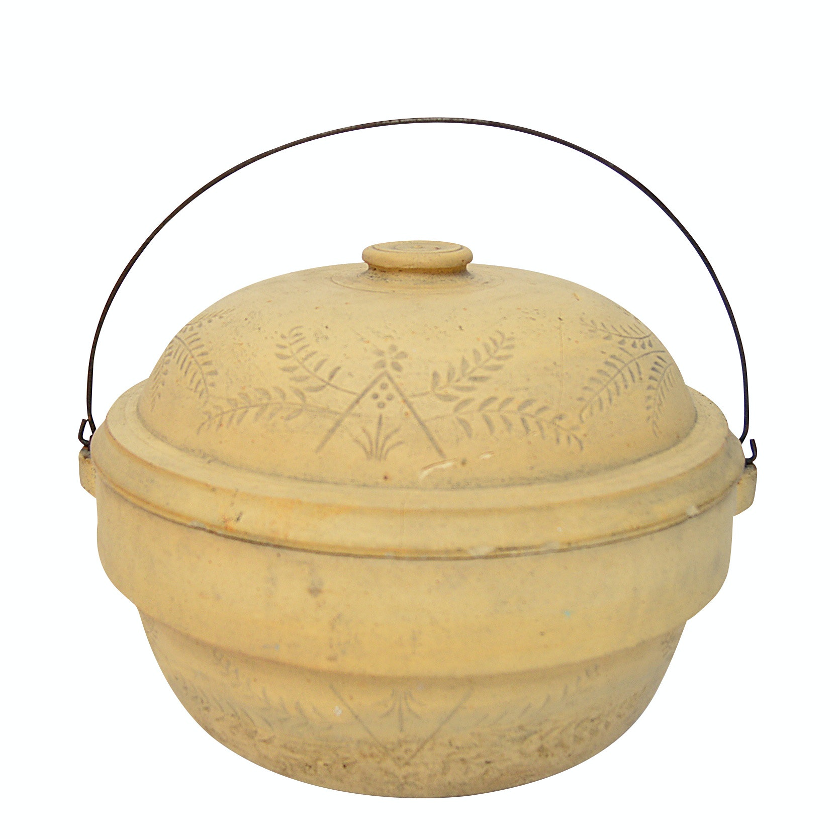 Sanitary Stoneware Fire Clay Dutch Oven, Early 20th Century