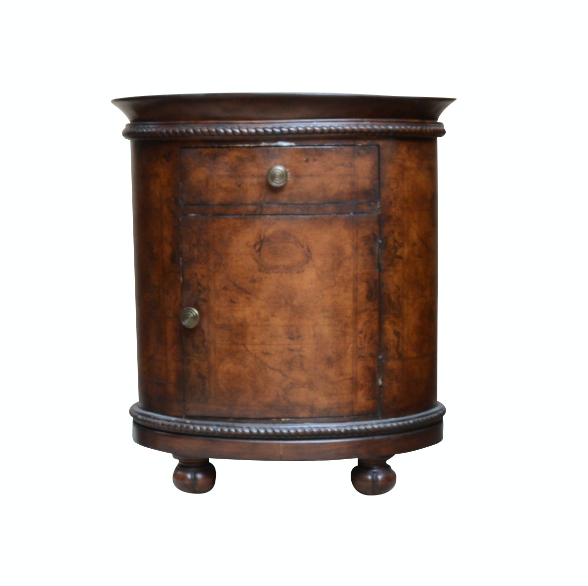 "Hooker Furniture ""Seven Seas Collection"" Side Table with Tray Top"