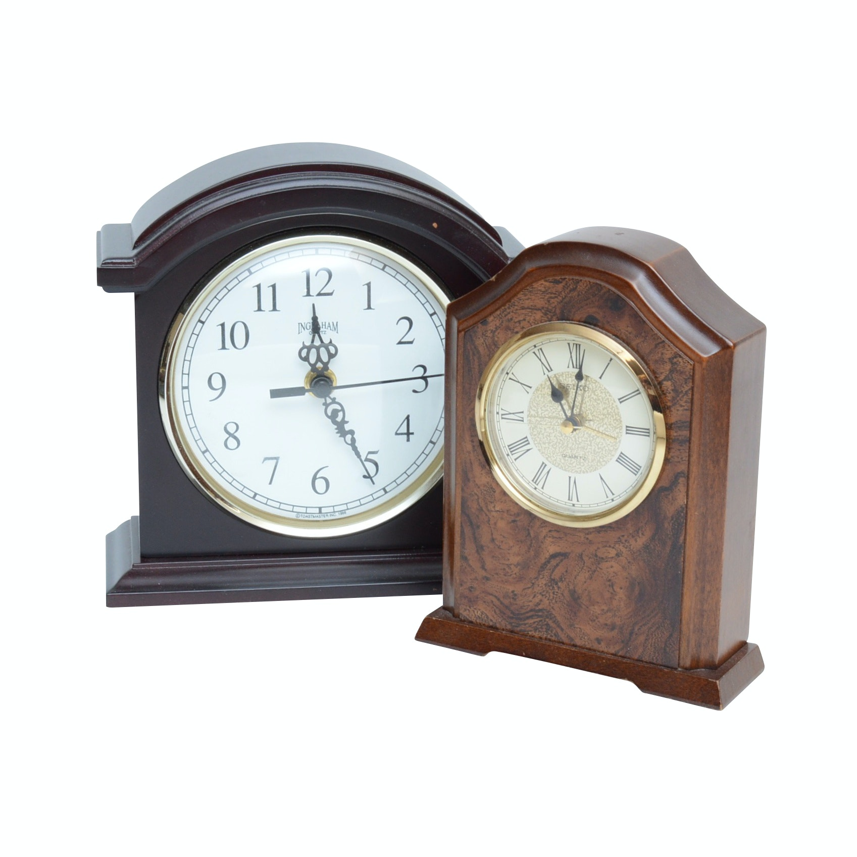 Ingraham and Seiko Desk Clocks