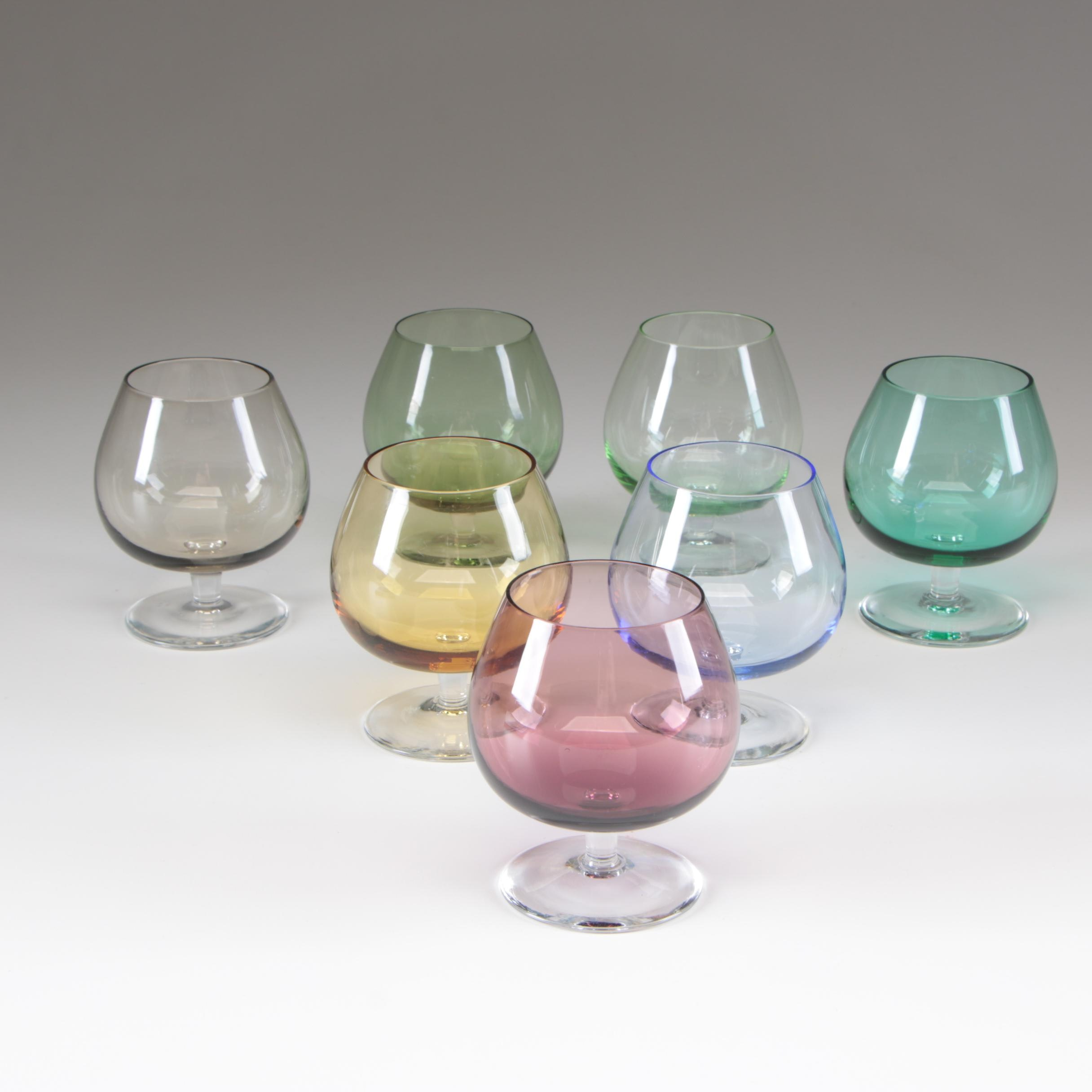Multi Colored Miniature Brandy Snifters