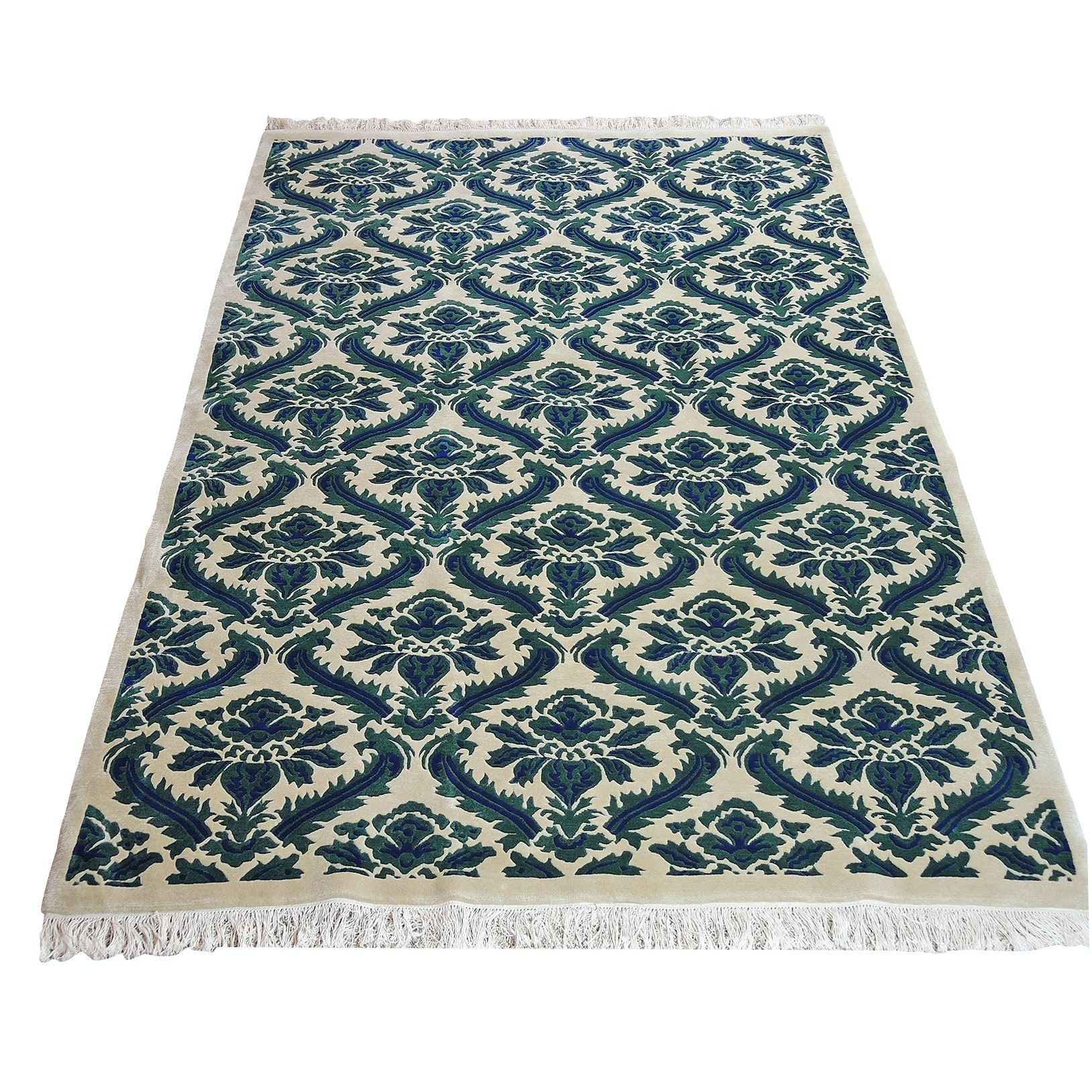 Machine Woven Indian Wool and Cotton Area Rug from Hoffman Albers