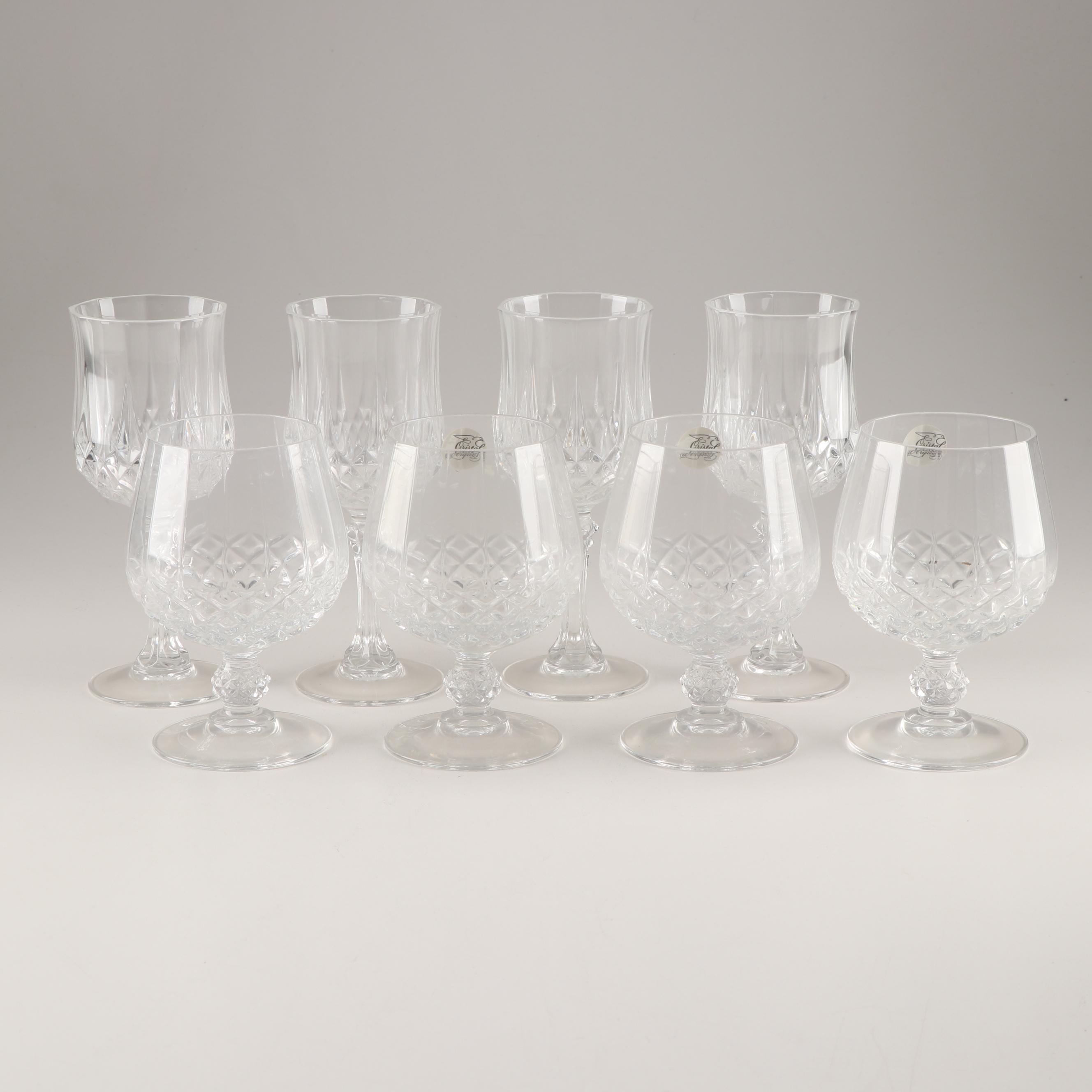 "Cristal D'Arques ""Longchamp"" Crystal Stemware"