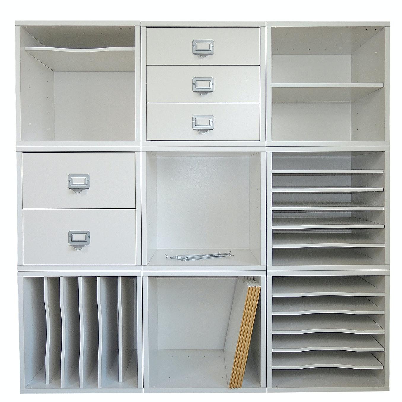 Nine Piece Cubicle Craft Organizer