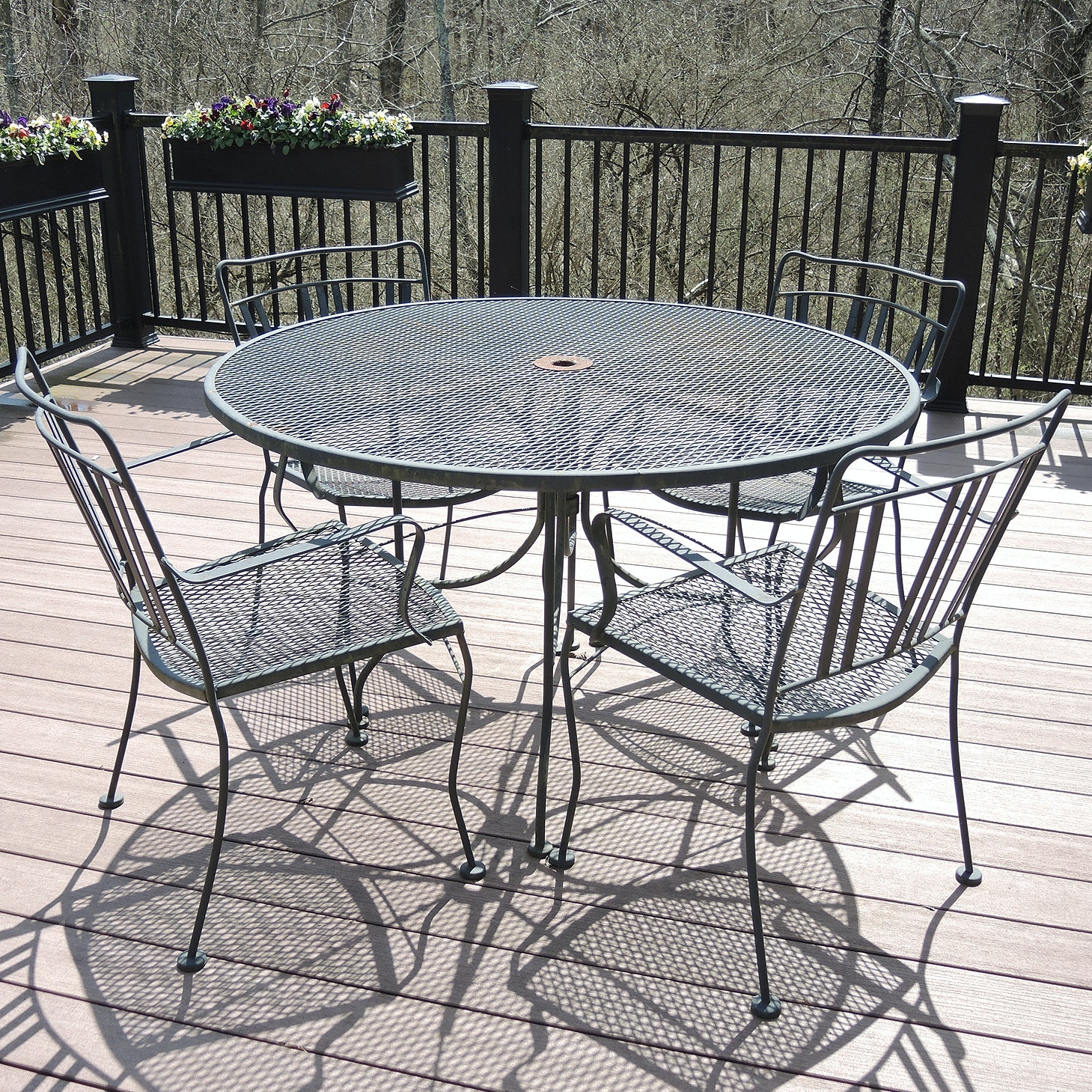Wrought Iron Patio Table and Chair Set