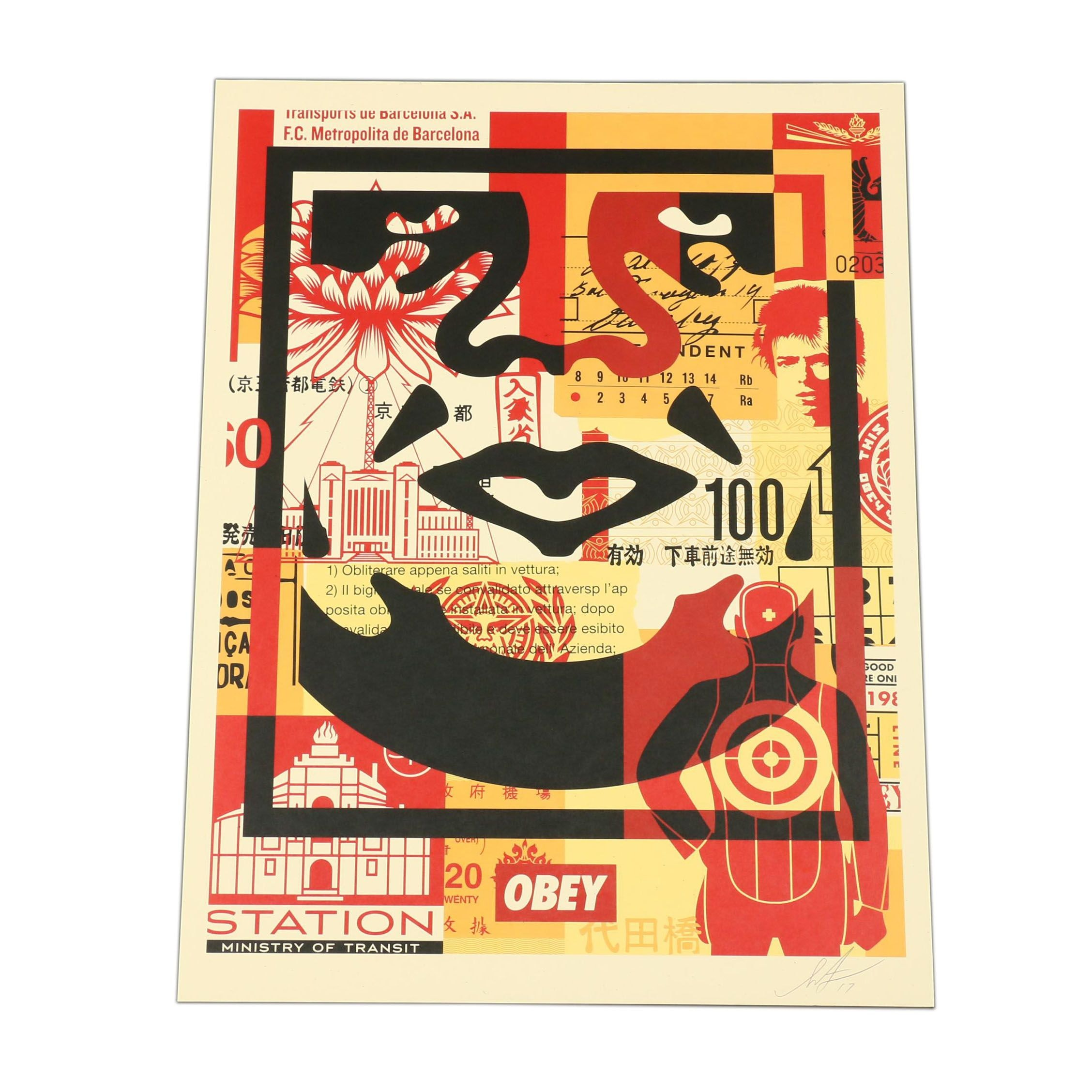 "Shepard Fairey Offset Print ""Obey Face"""