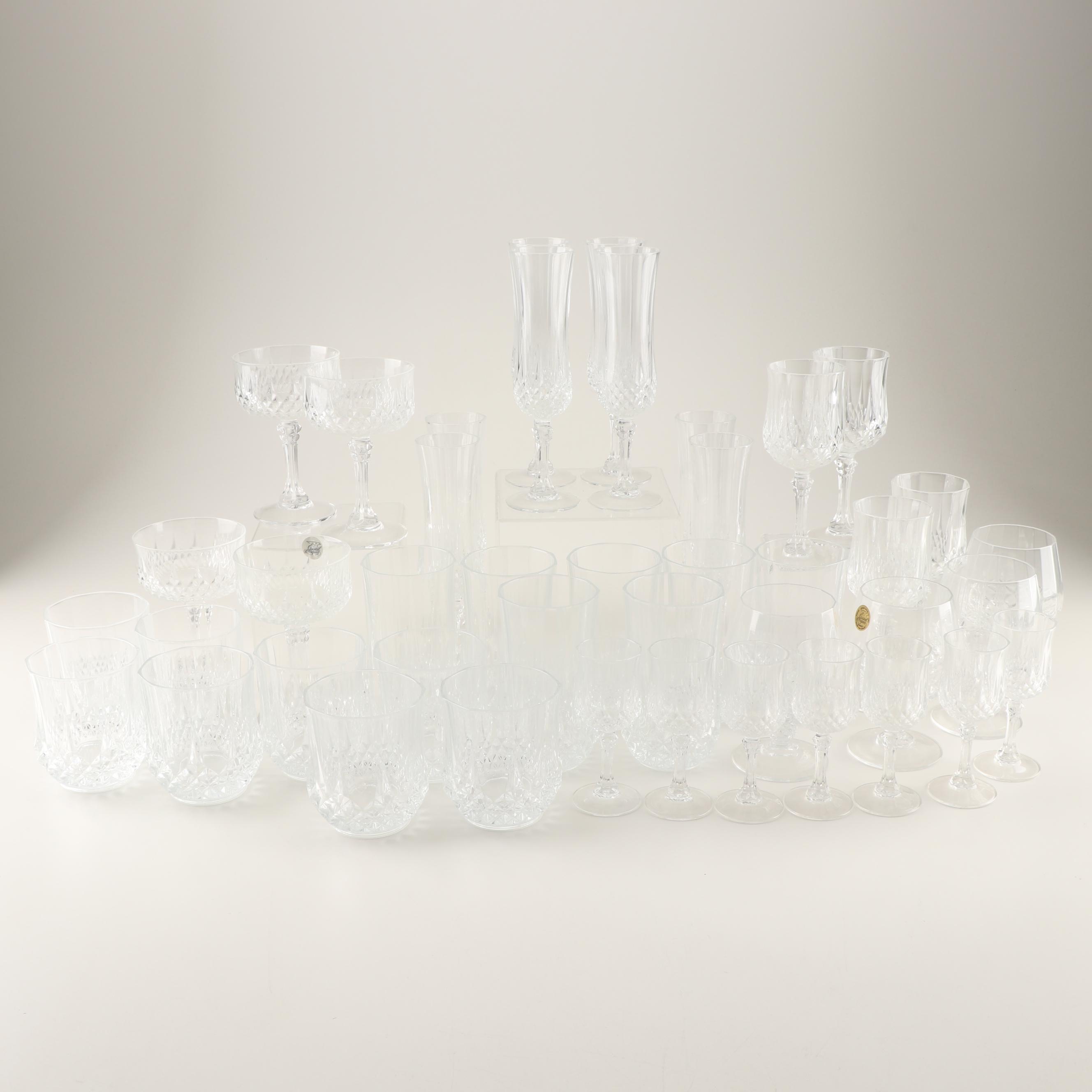 "Crystal D'Arques ""Longchamp"" Stemware"