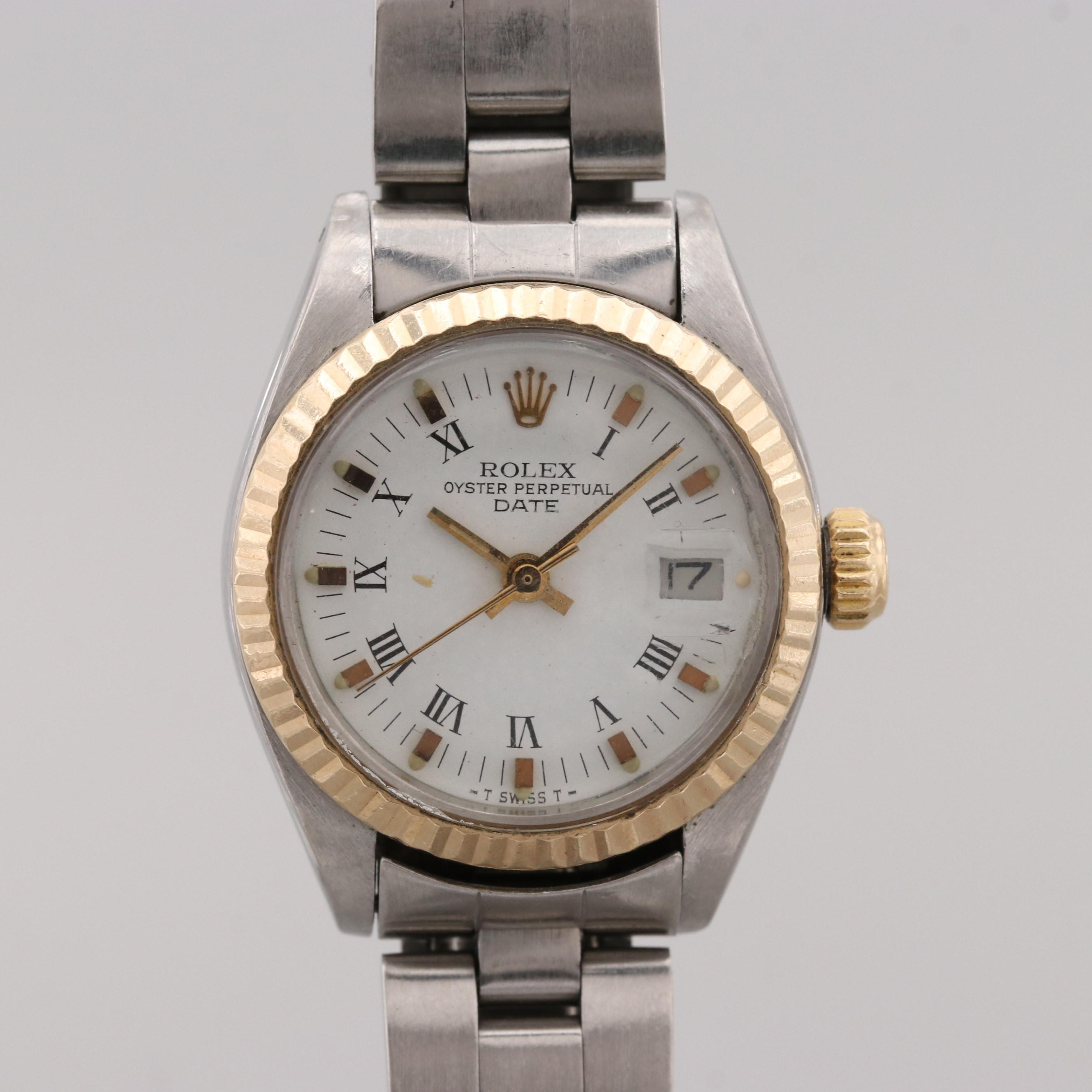 Rolex Oyster Perpetual Stainless Steel and 18K Gold Automatic Wristwatch, 1981