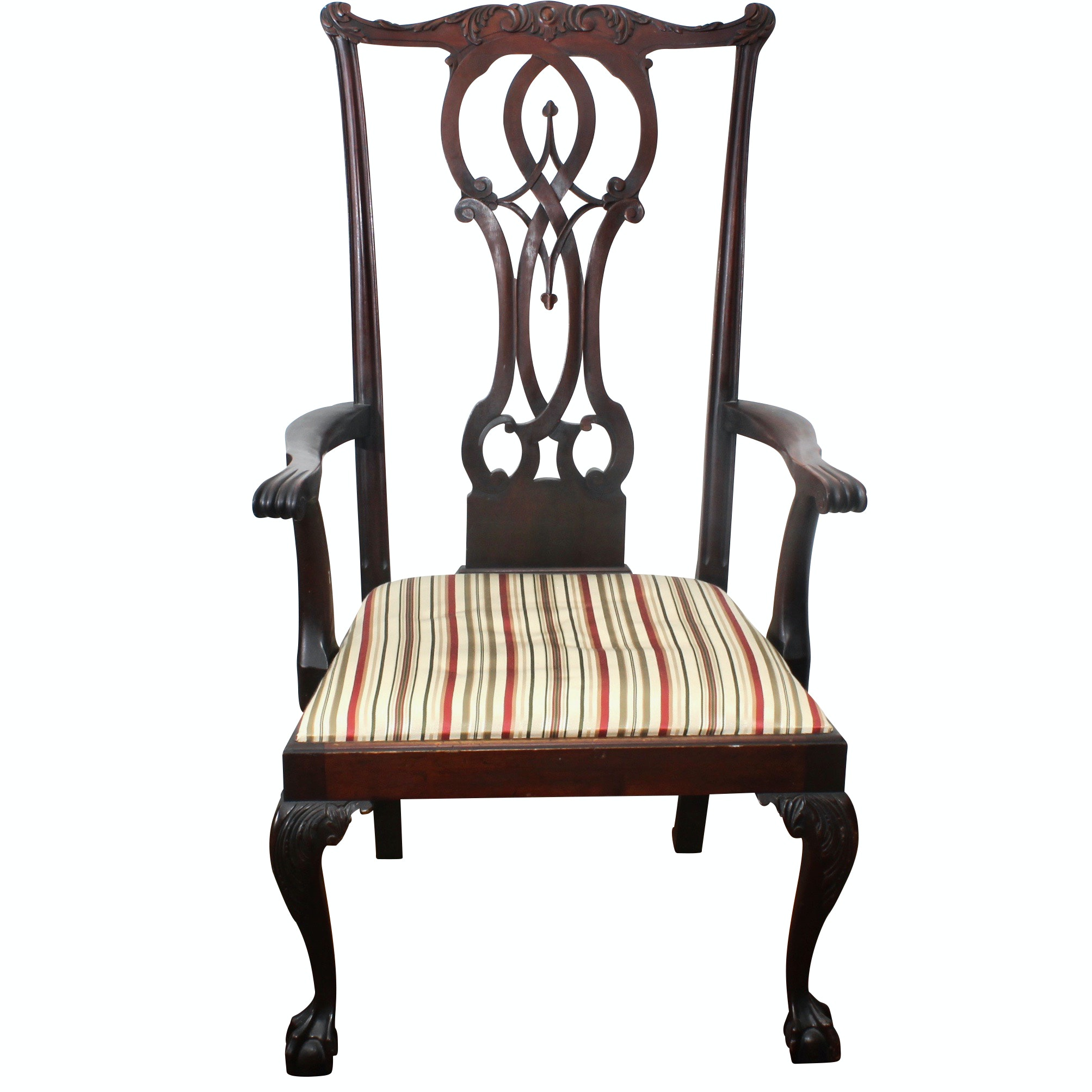 Chippendale Mahogany Ball-and-Claw Arm Chair, Antique
